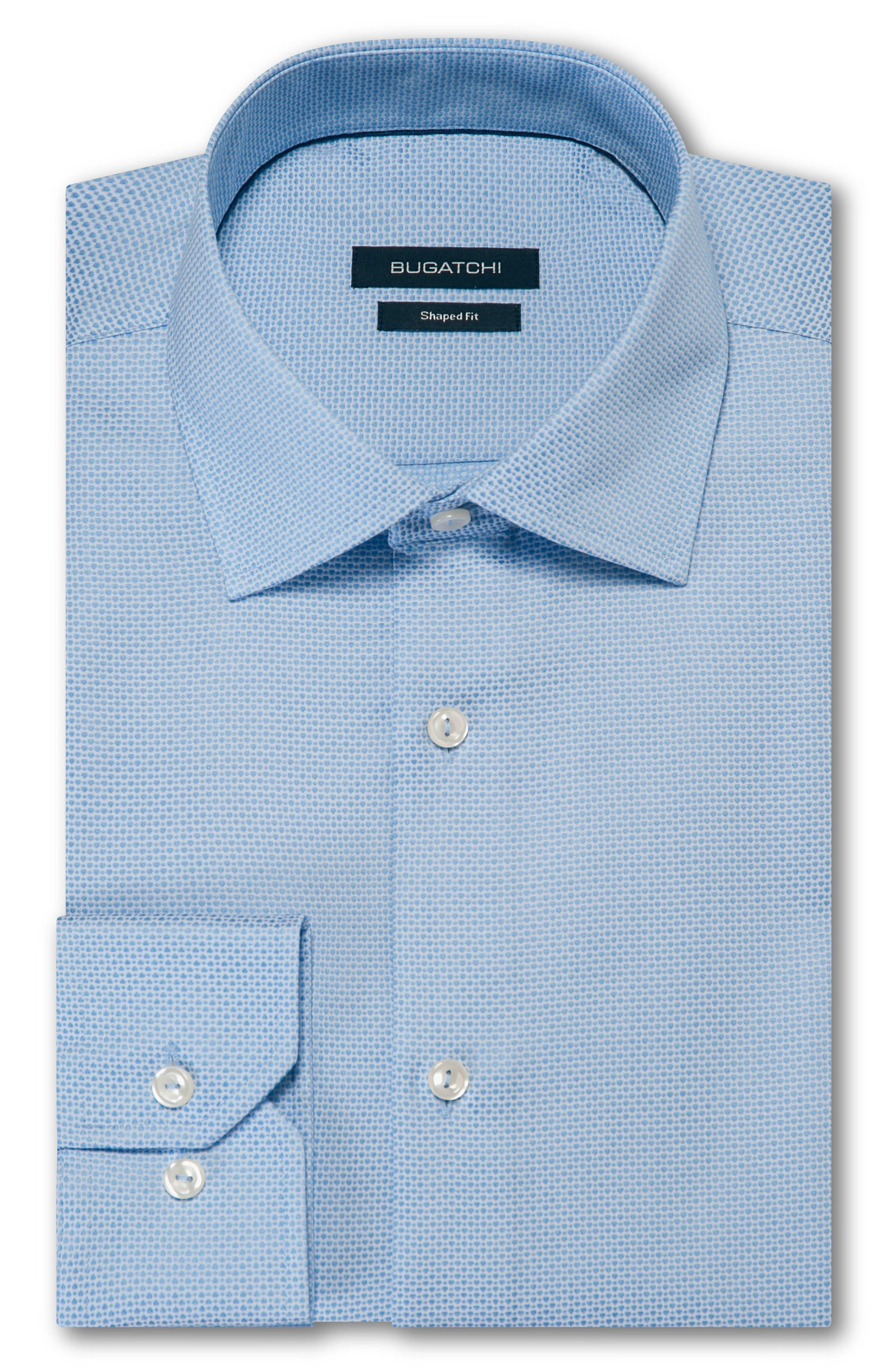 Trim Fit Solid Dress Shirt,                             Main thumbnail 1, color,                             SKY