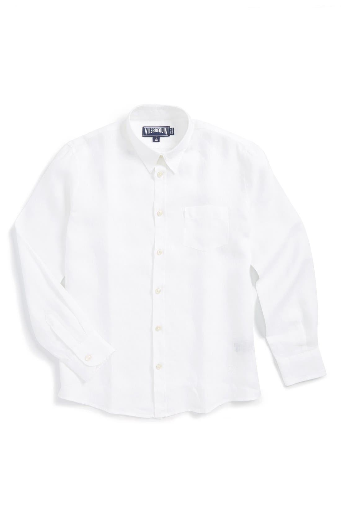 VILEBREQUIN Linen Shirt, Main, color, 100