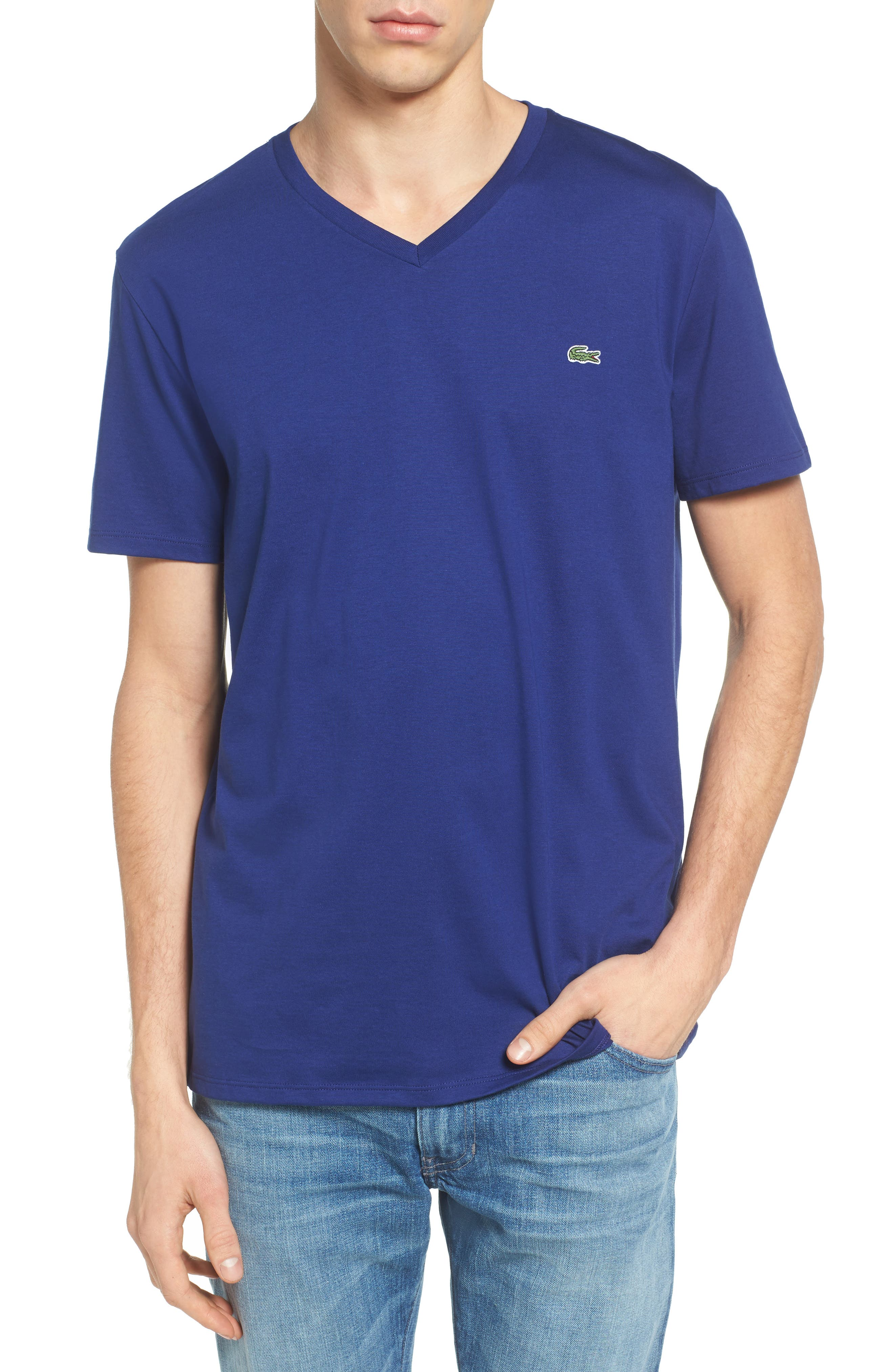 V-Neck T-Shirt,                             Main thumbnail 6, color,