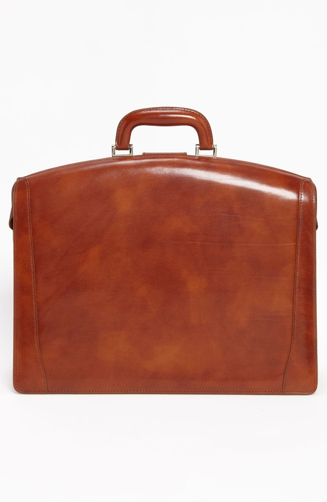 Triple Compartment Leather Briefcase,                             Alternate thumbnail 2, color,                             AMBER