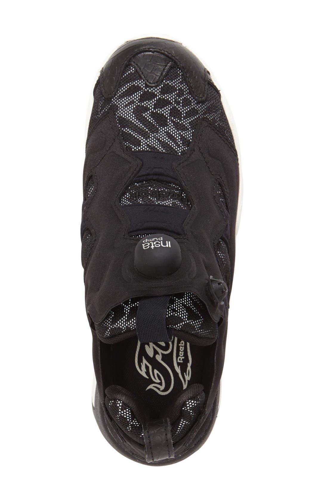 'Instapump Fury Tech' Sneaker,                             Alternate thumbnail 3, color,                             001