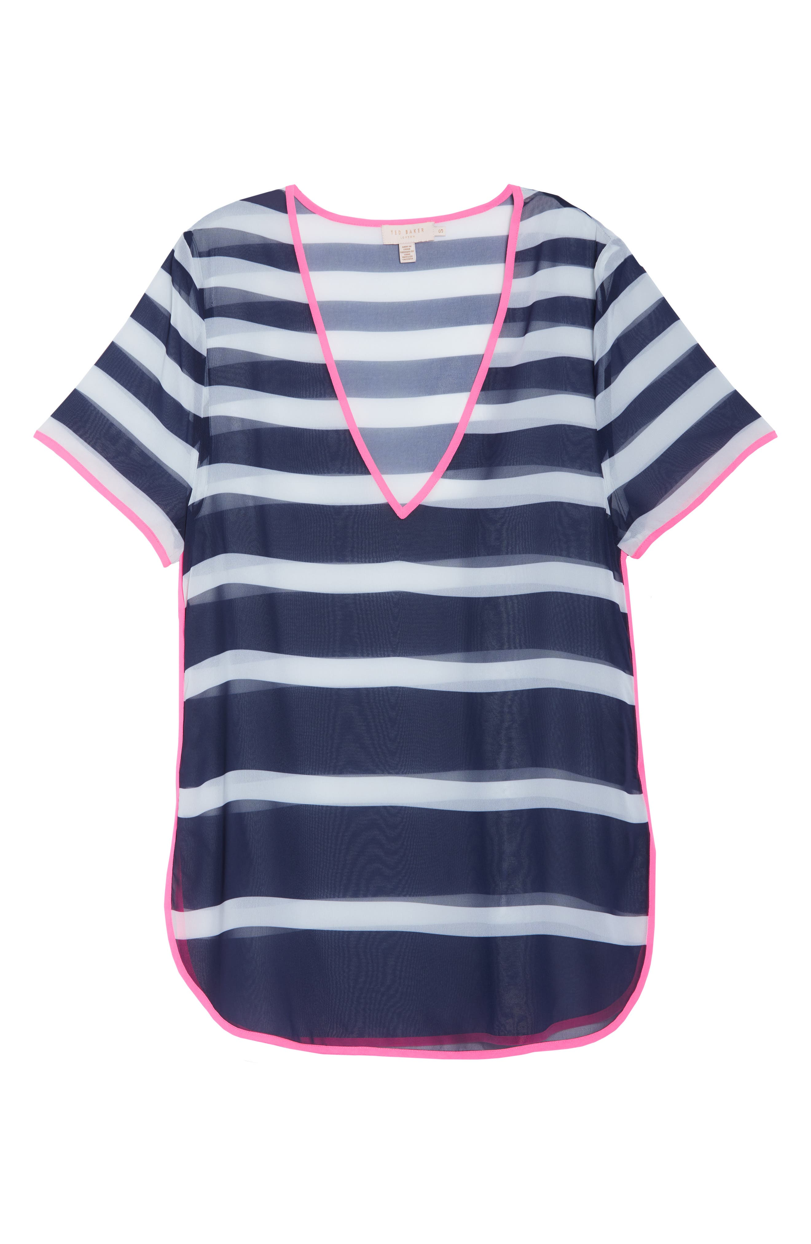 Stripe Cover-Up Tunic,                             Alternate thumbnail 6, color,                             410