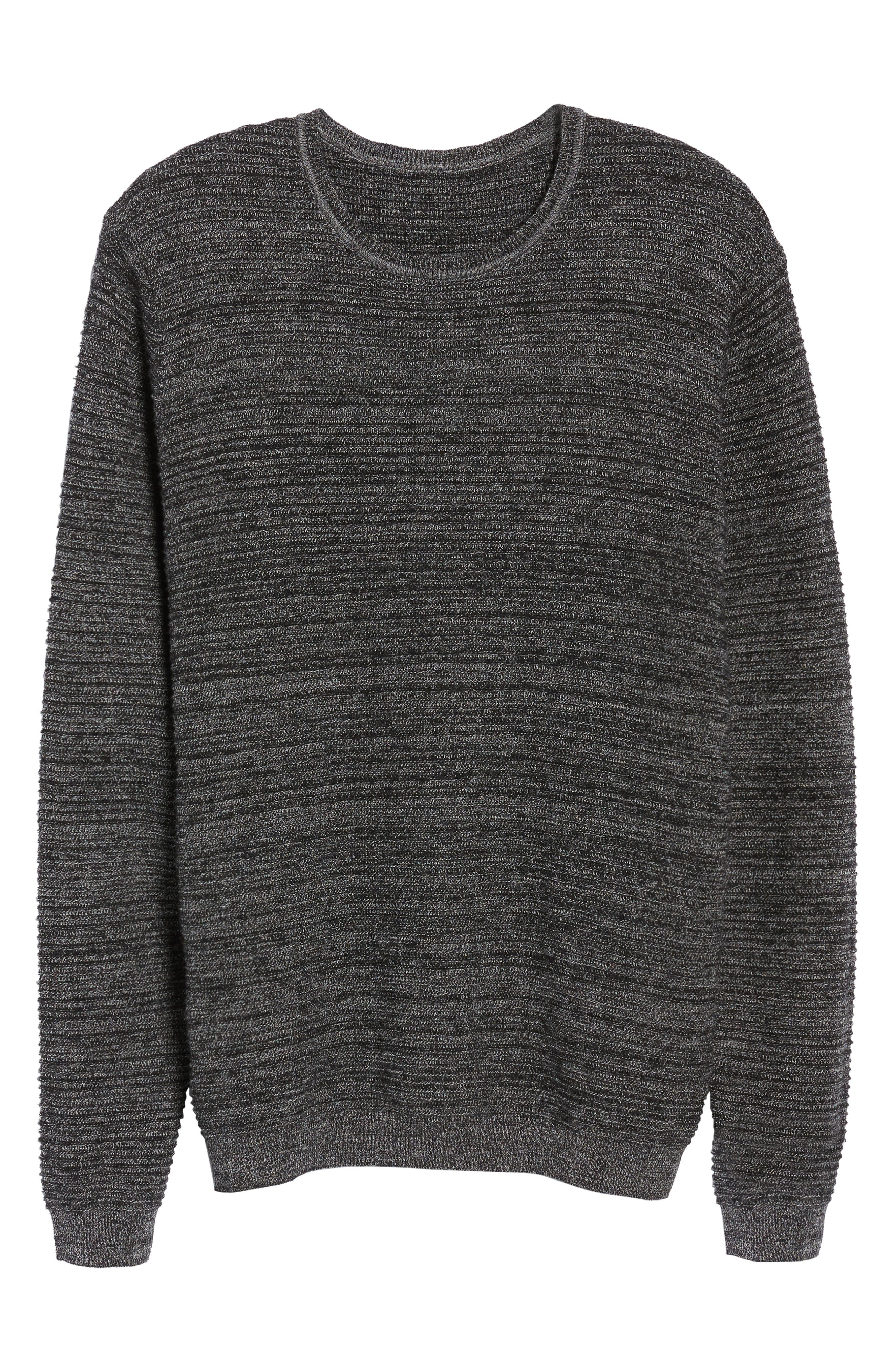 Ottoman Wool Blend Sweater,                             Alternate thumbnail 6, color,                             001