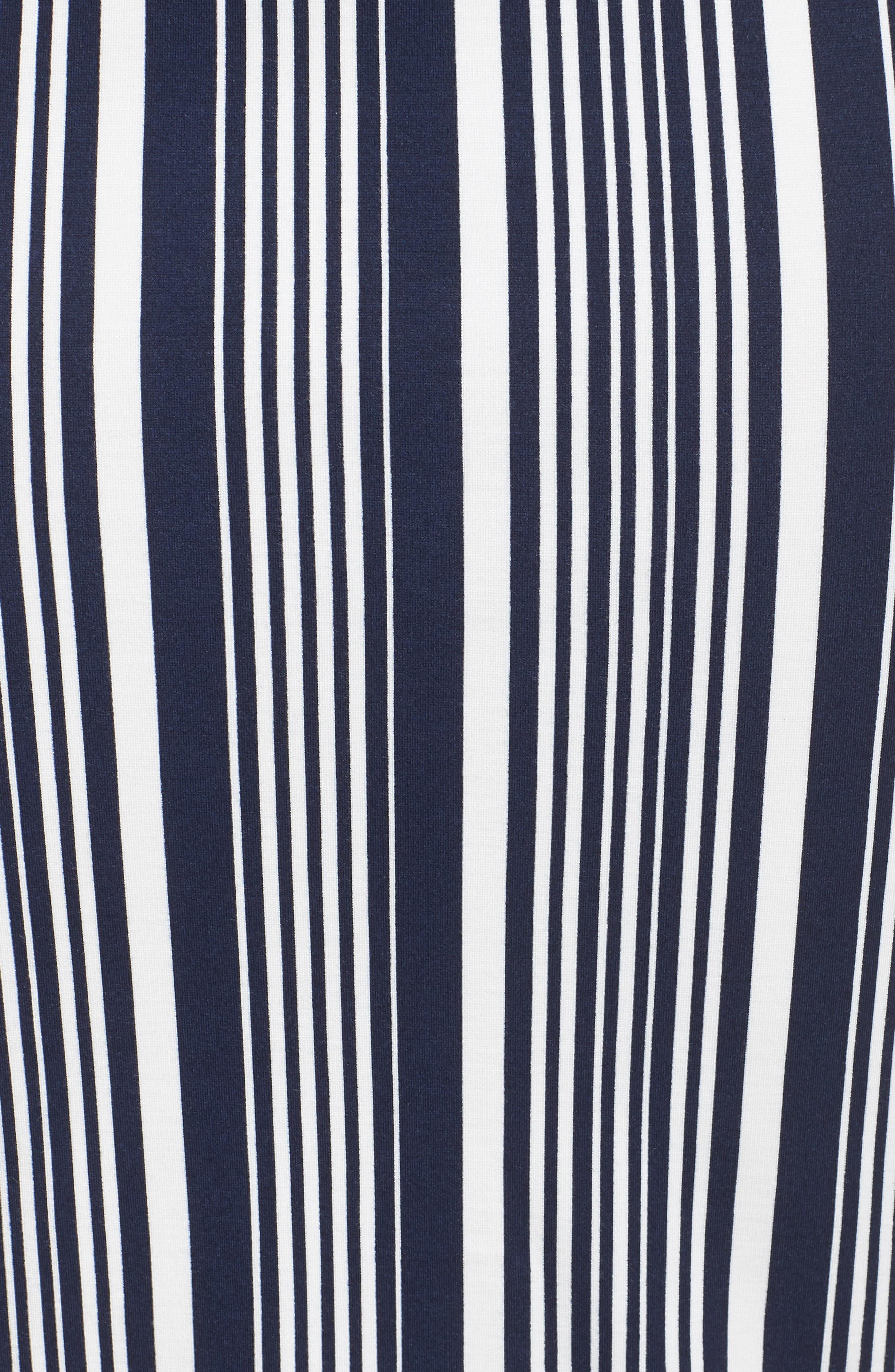 Stripe Ponte Pencil Skirt,                             Alternate thumbnail 5, color,