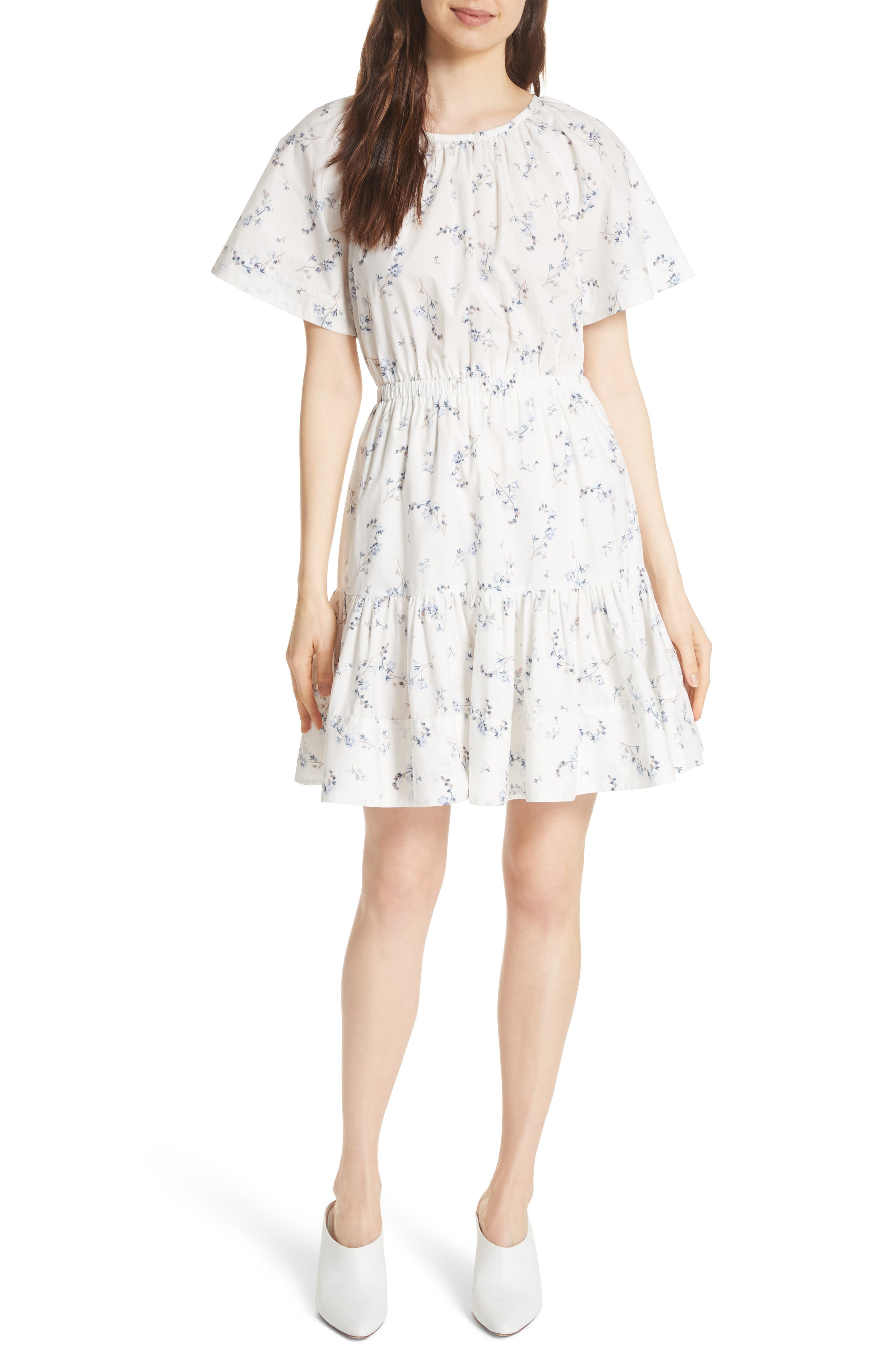 Francine Back Cutout Mini Dress,                         Main,                         color, 103
