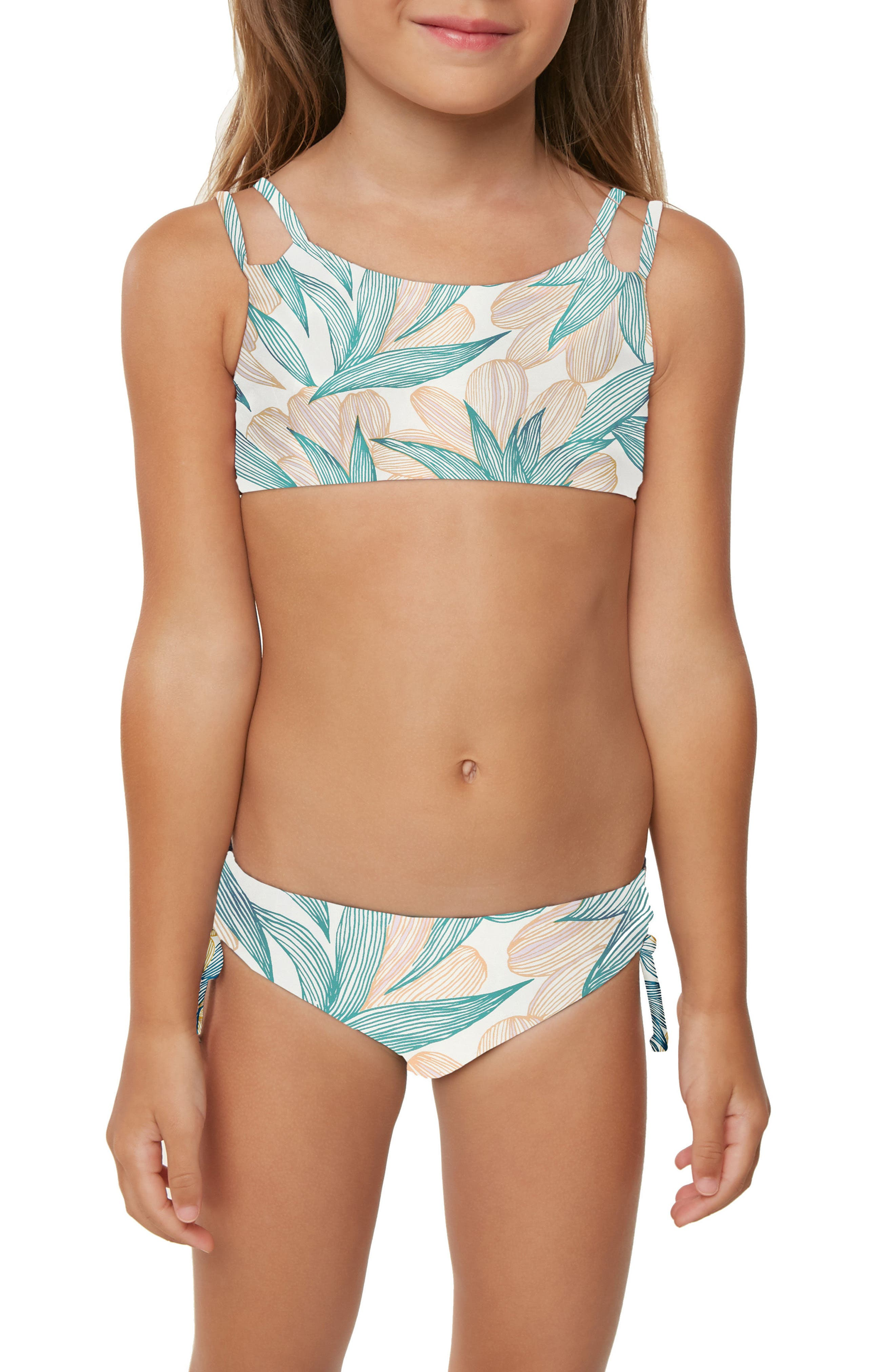 Bethany Two-Piece Swimsuit,                             Alternate thumbnail 4, color,                             ISLAND TURQUOISE