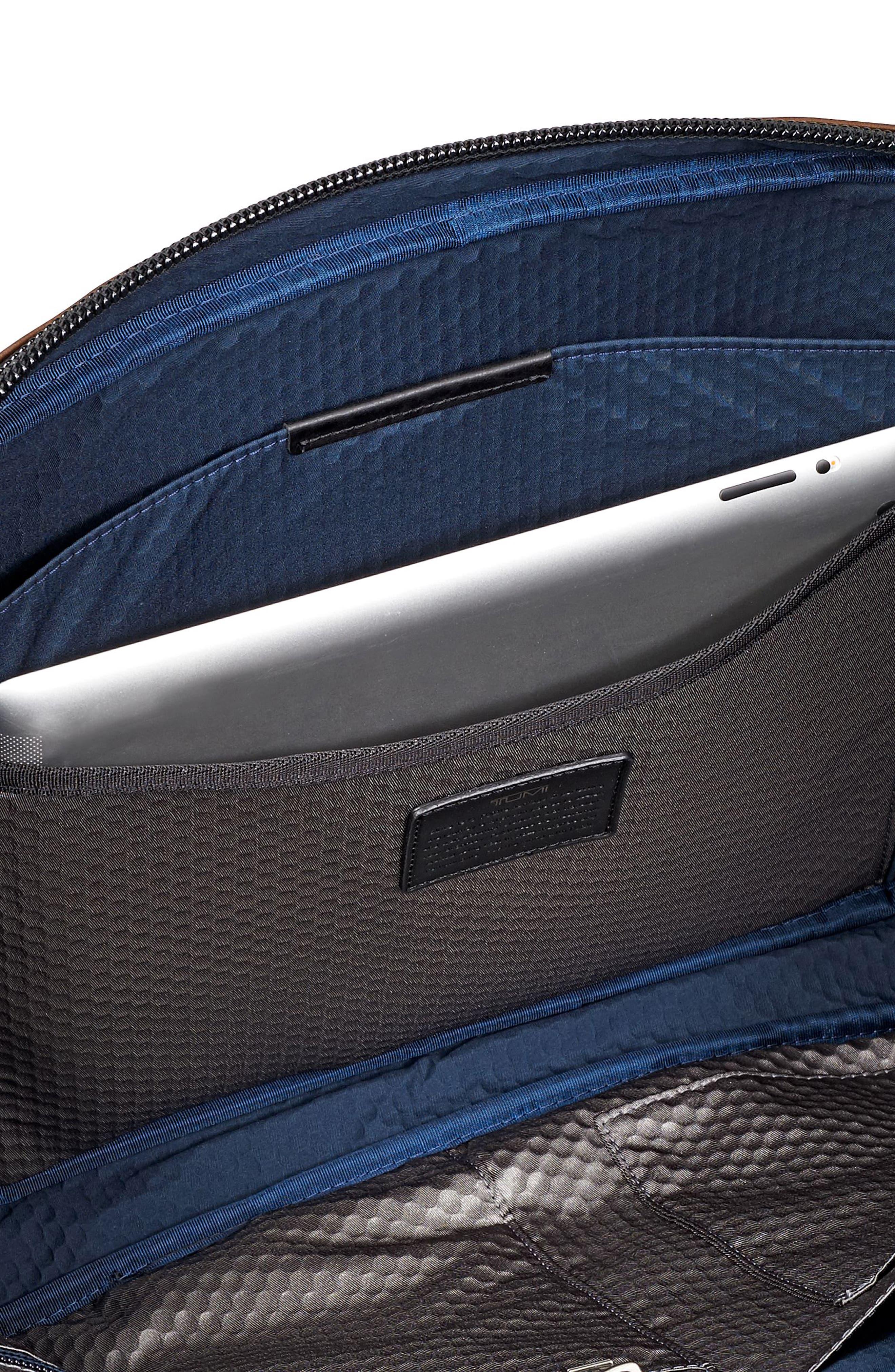 Alpha Bravo - Aviano Leather Briefcase,                             Alternate thumbnail 5, color,