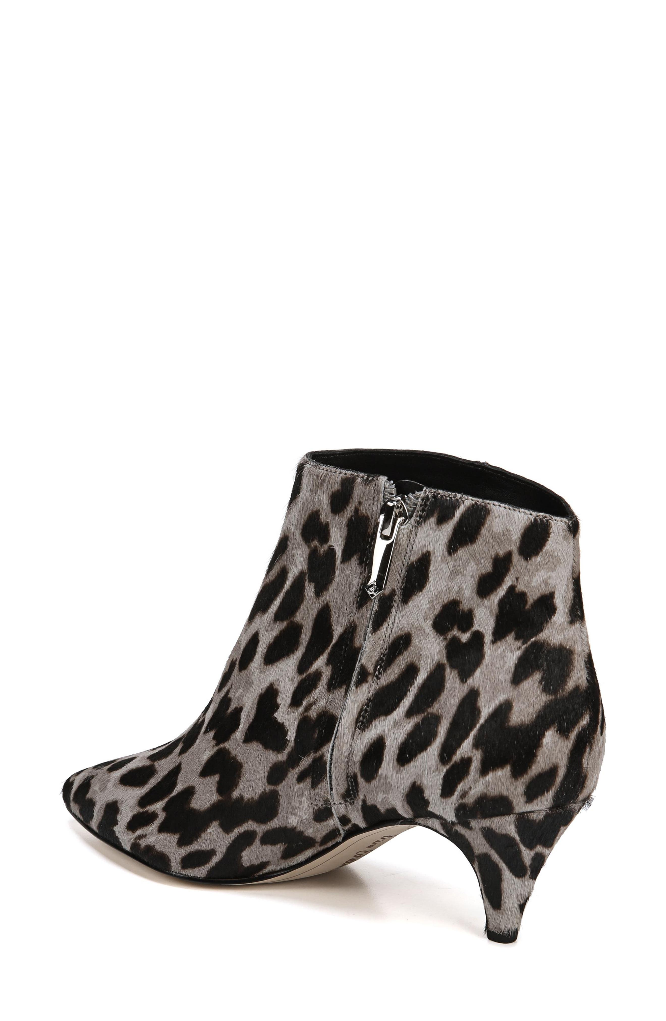 Kinzey Genuine Calf Hair Pointy Toe Bootie,                             Alternate thumbnail 2, color,                             GREY LEOPARD BRAHMA HAIR