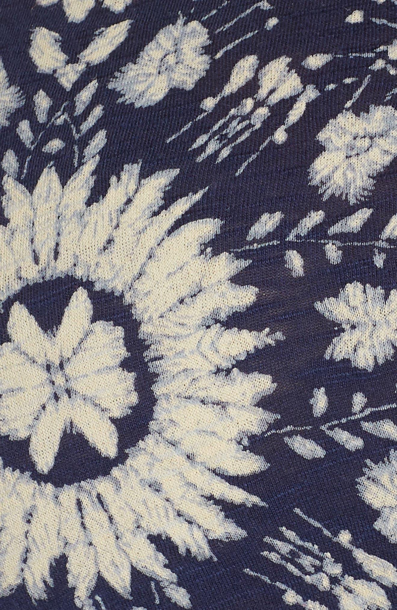 Cold Shoulder Print Belted Dress,                             Alternate thumbnail 6, color,                             460