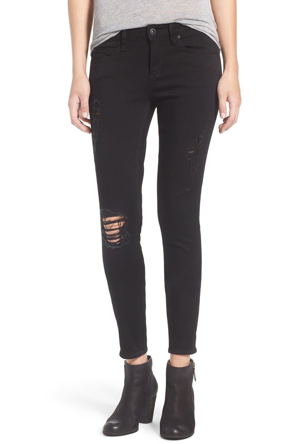 'Sarah' Skinny Jeans,                             Main thumbnail 1, color,                             001