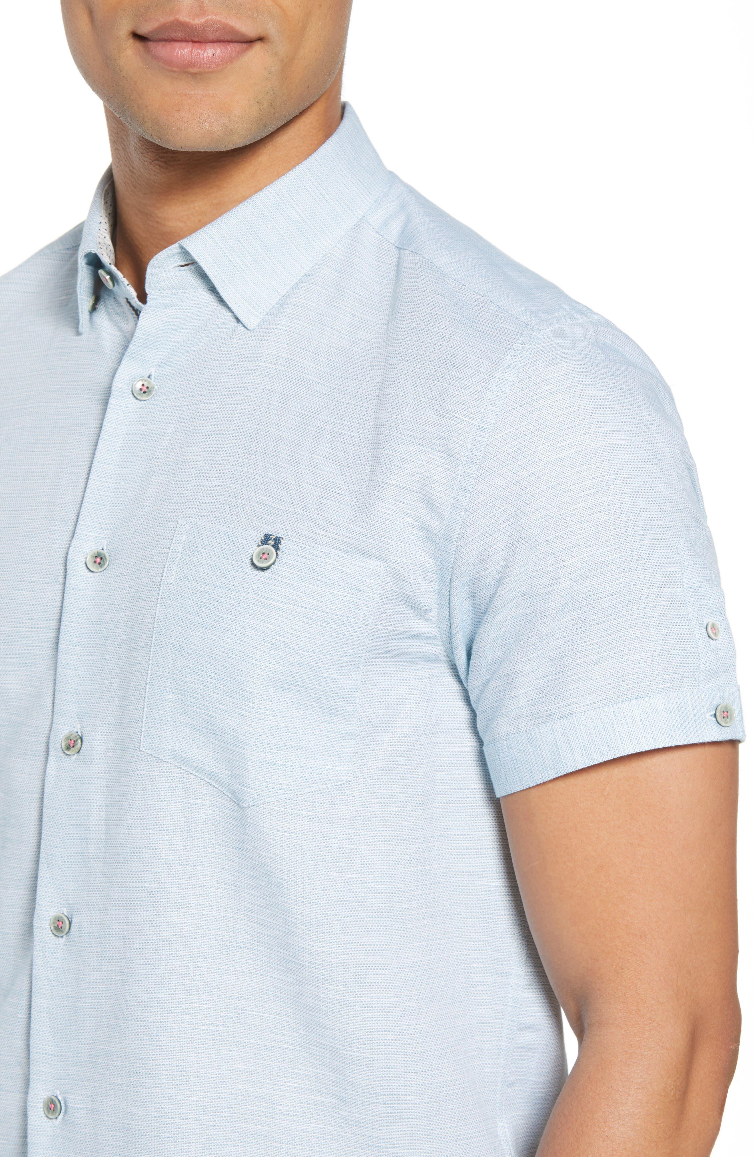 Slim Fit Sport Shirt,                             Alternate thumbnail 18, color,