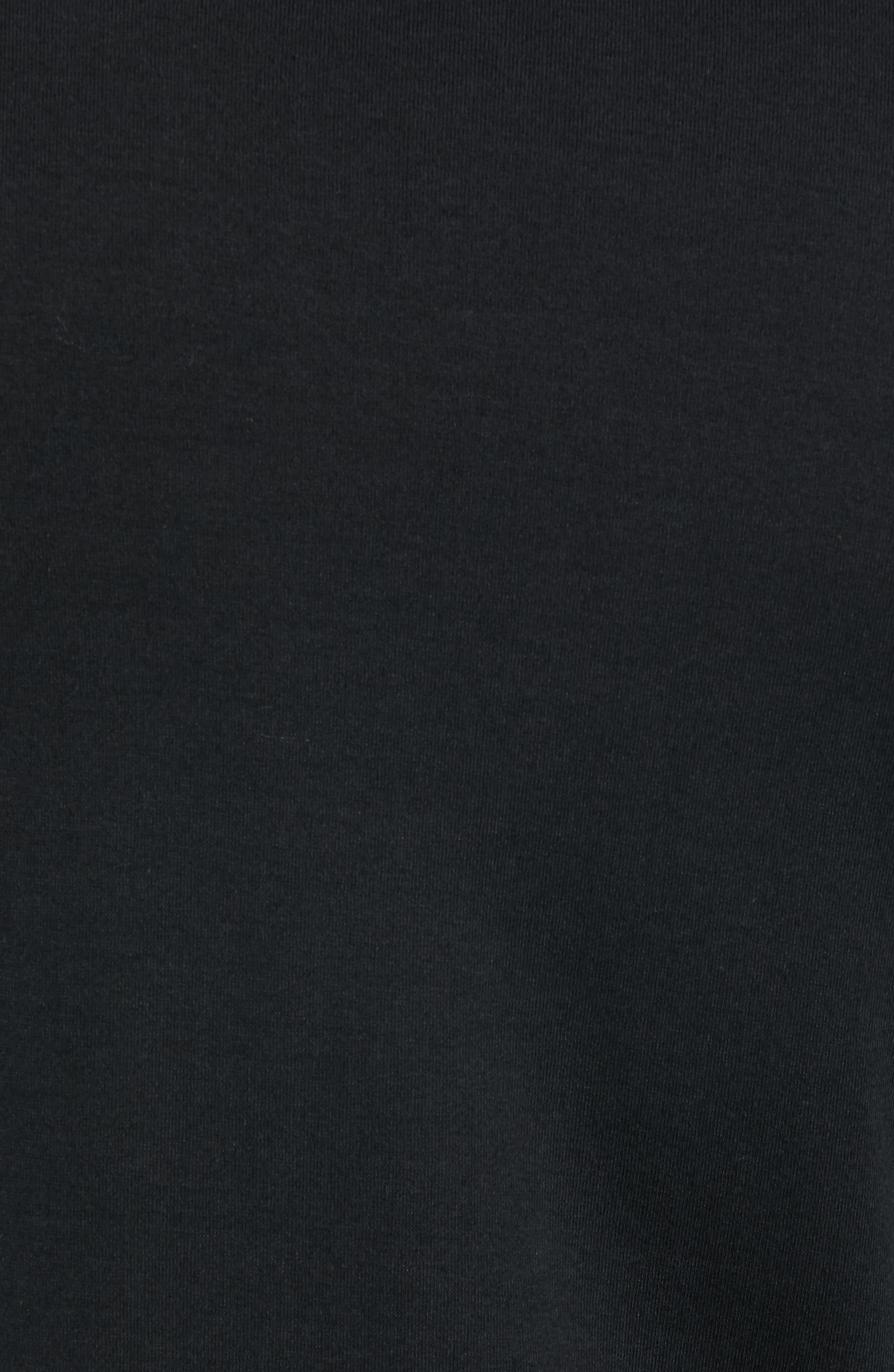 Trim Fit Long Sleeve Pocket T-Shirt,                             Alternate thumbnail 5, color,                             BLACK