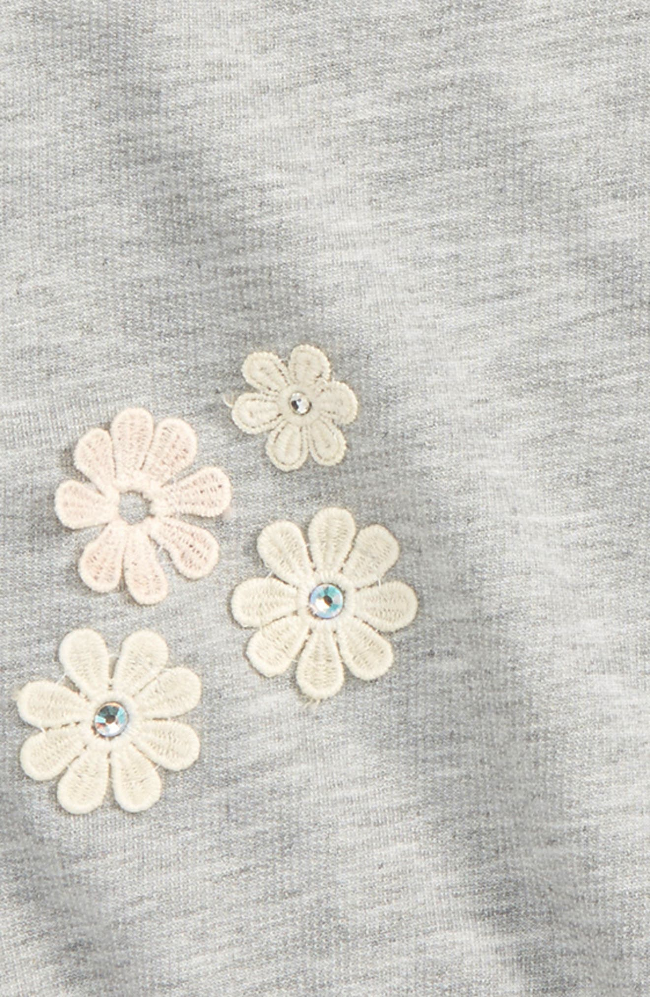 Floral Appliqué Sweatshirt,                             Alternate thumbnail 2, color,                             026