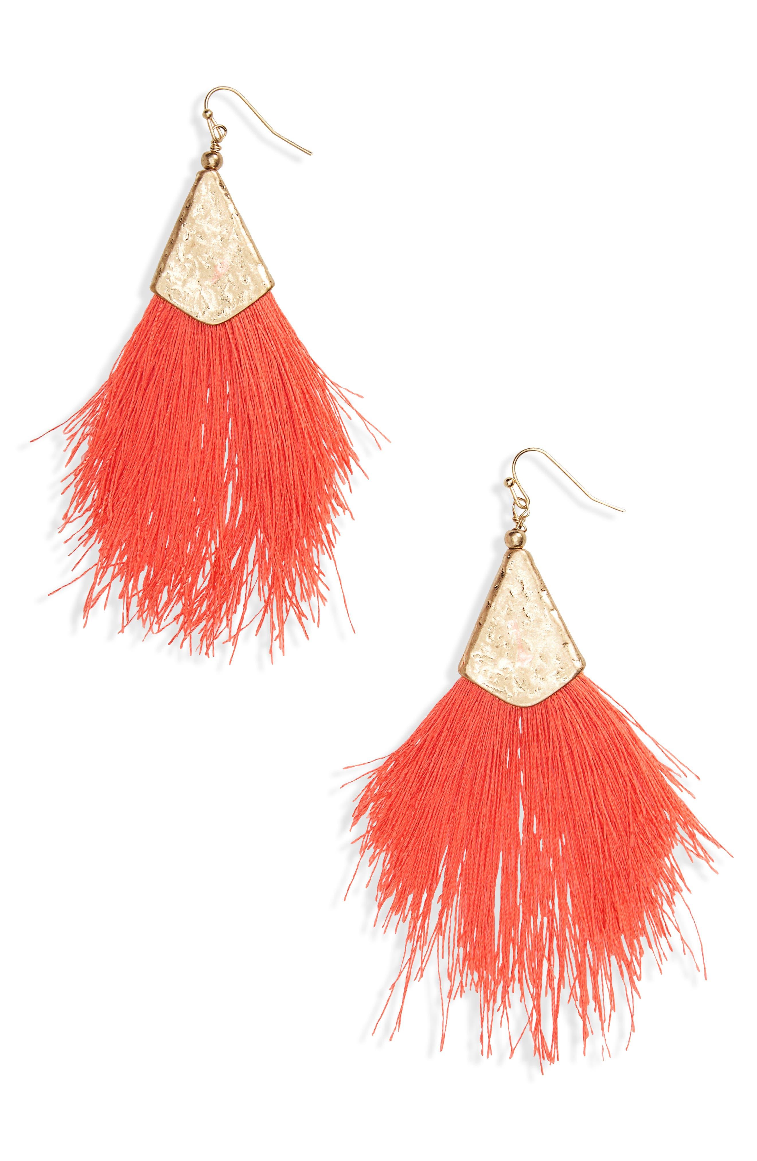 Fan Tassel Earrings,                             Main thumbnail 4, color,