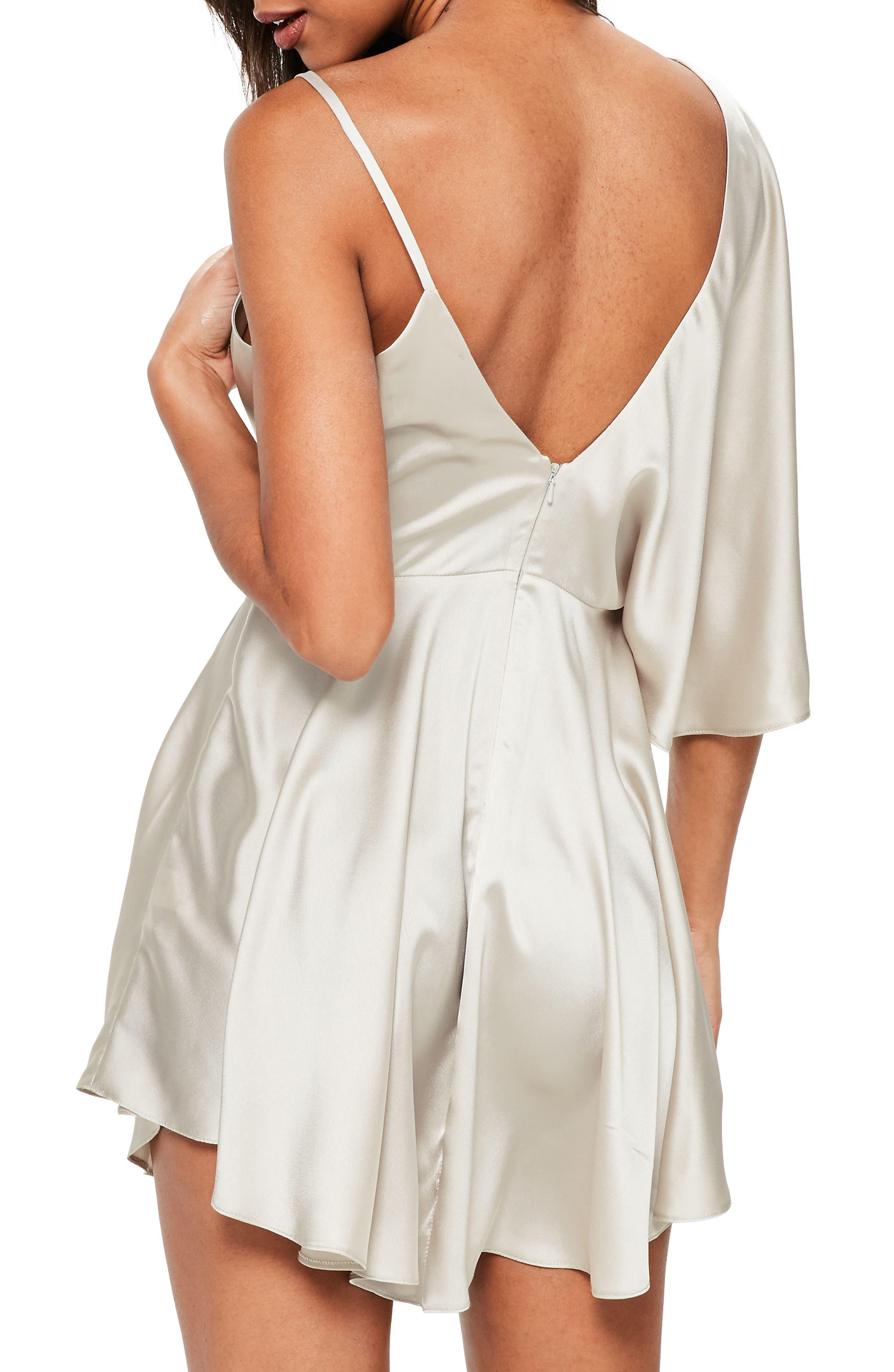 Asymmetrical Sleeve Swing Dress,                             Alternate thumbnail 2, color,                             650