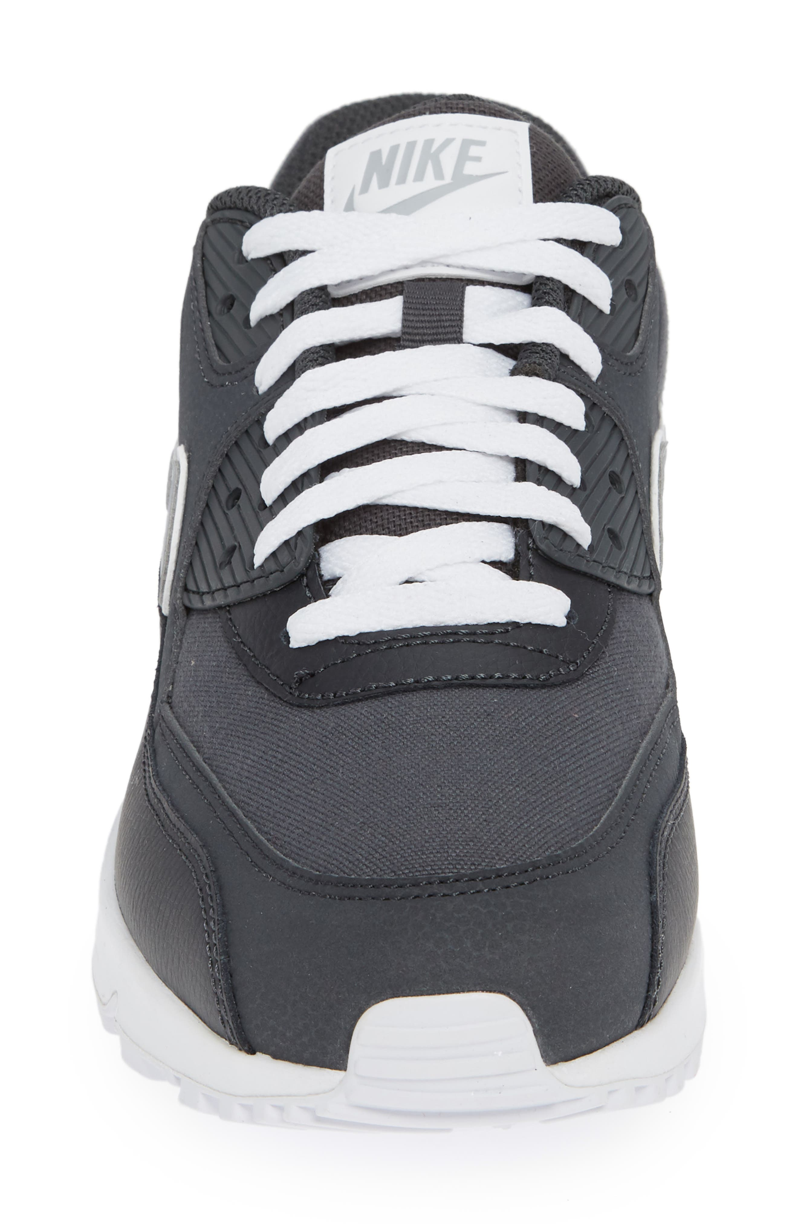 Air Max 90 Essential Sneaker,                             Alternate thumbnail 4, color,                             ANTHRACITE/ WOLF GREY/ WHITE