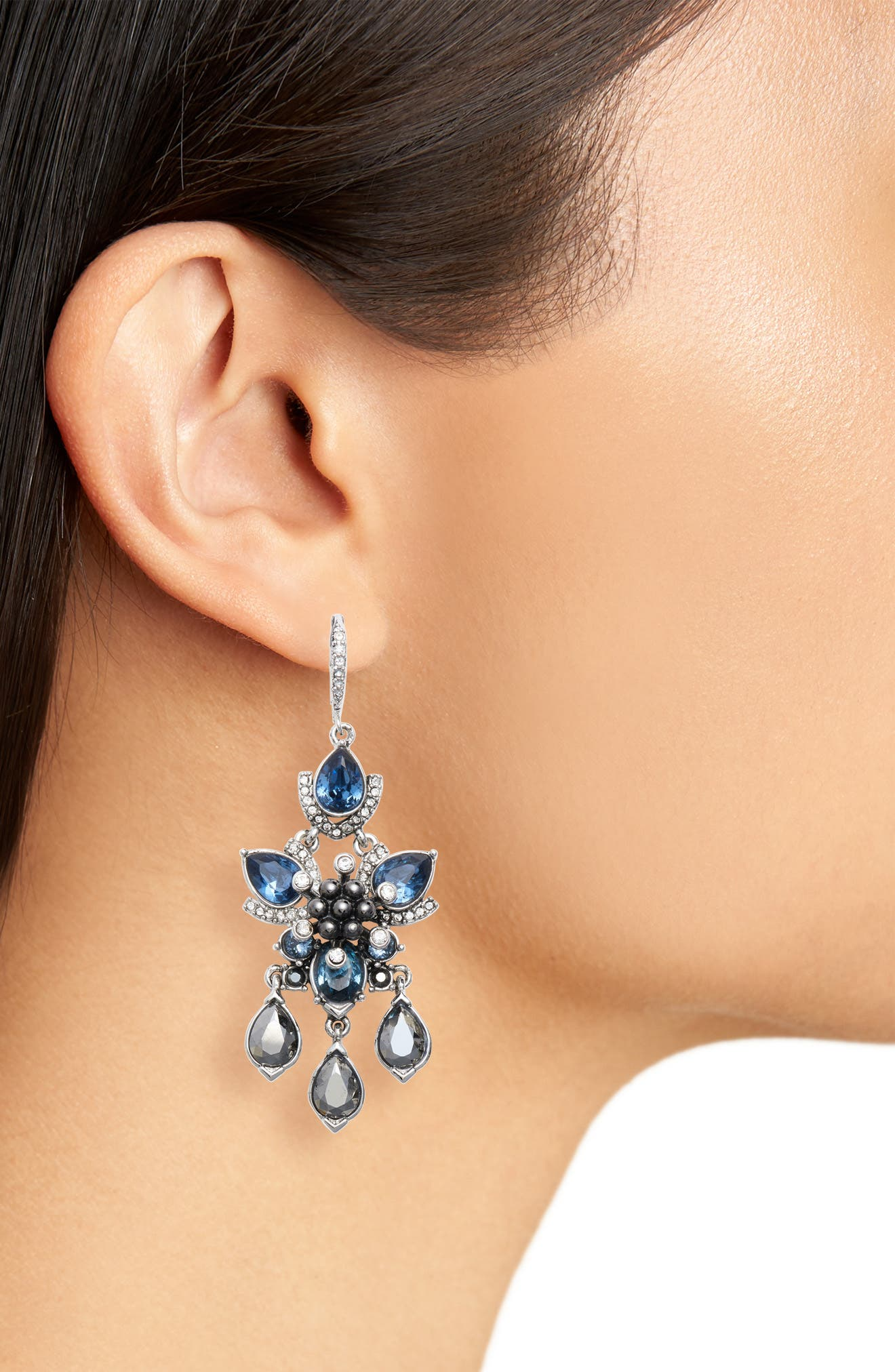 Chandelier Earrings,                             Alternate thumbnail 2, color,