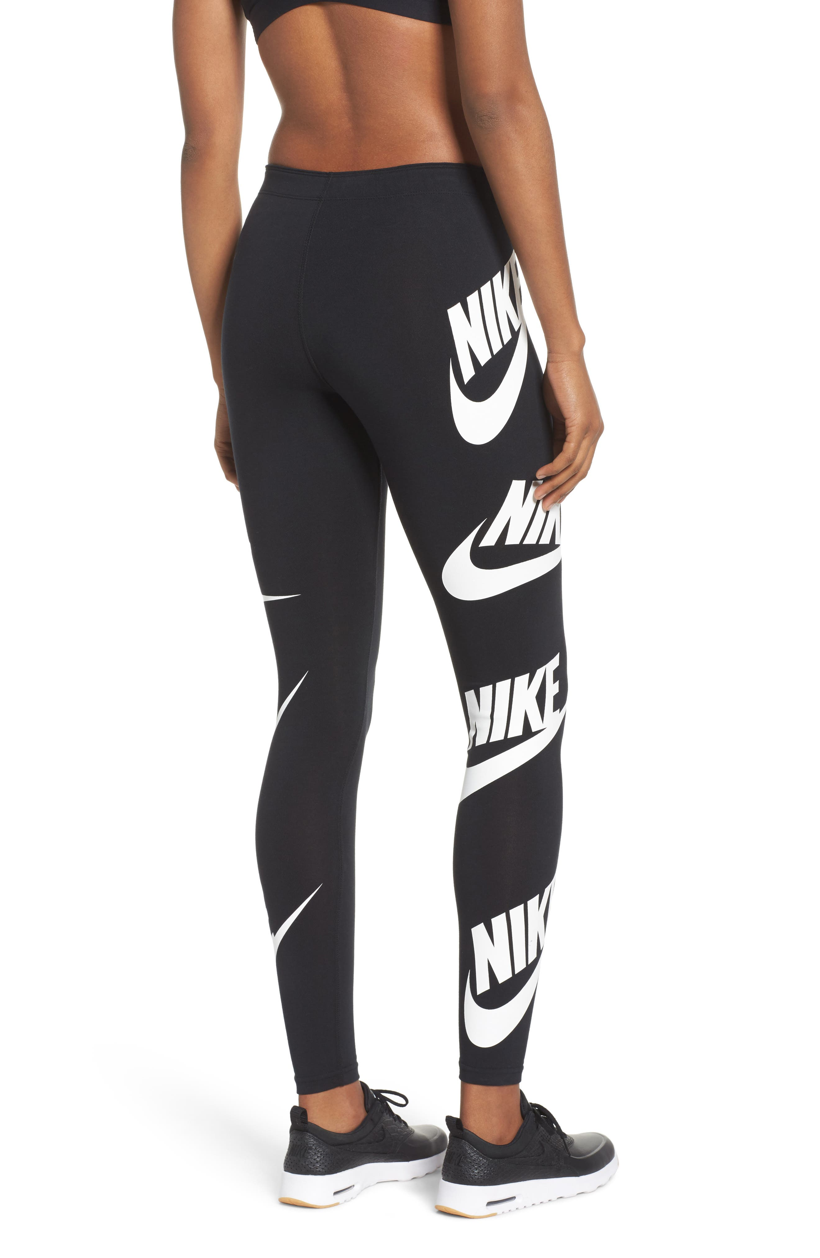 Sportswear Graphic Leggings,                             Alternate thumbnail 8, color,