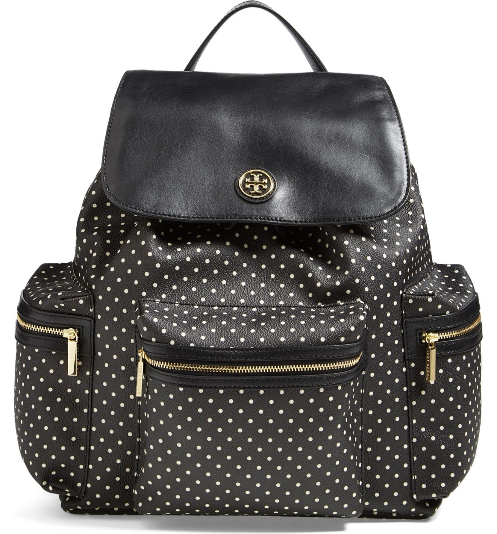 bd5d8dec4527 Tory Burch  Kerrington  Dot Print Flap Backpack