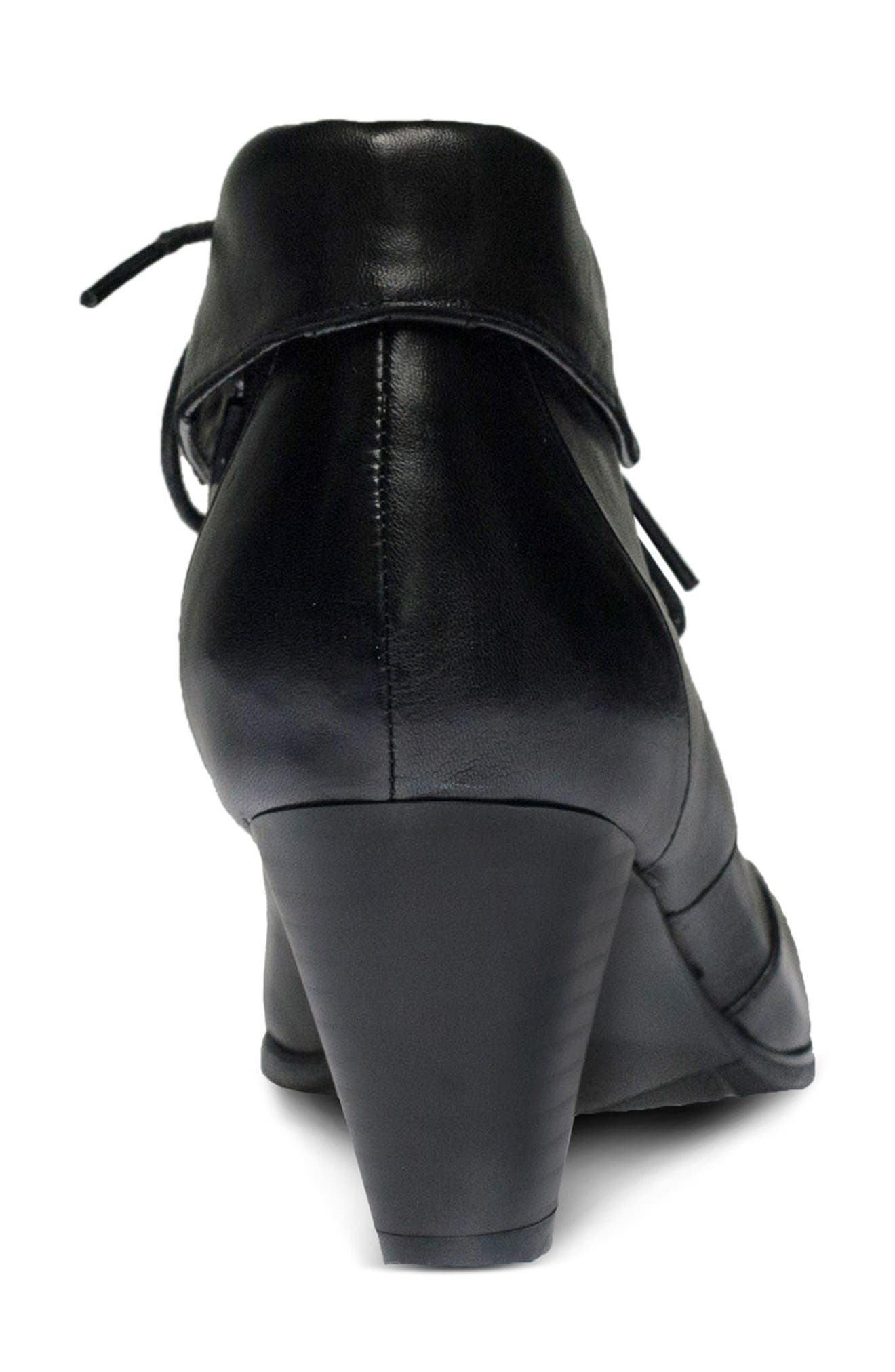 Conquer Foldover Cuff Bootie,                             Alternate thumbnail 6, color,                             001