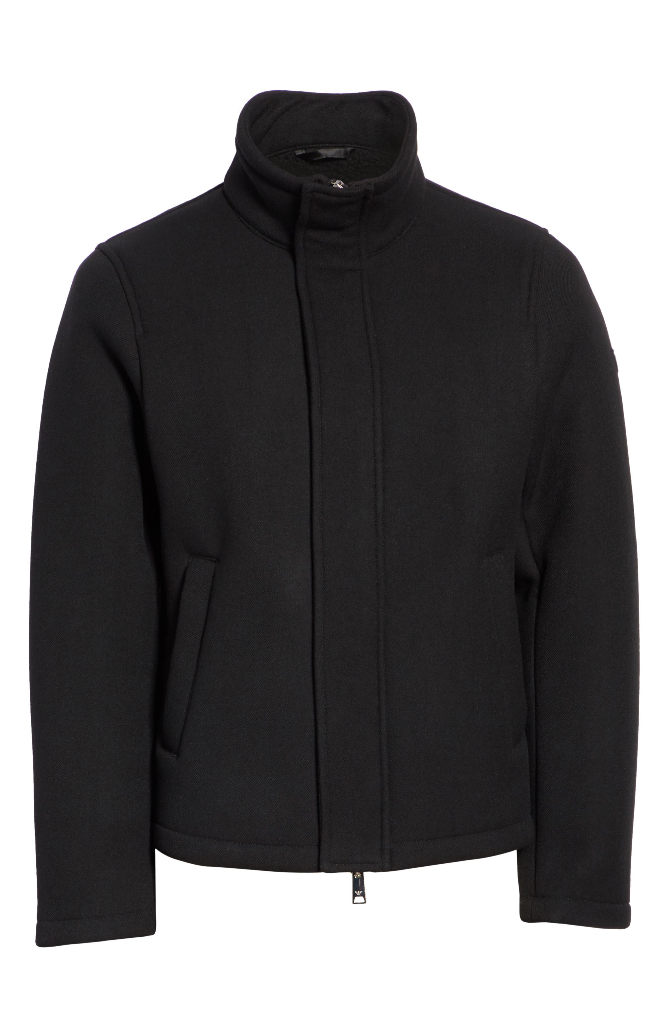 Broadcloth Down Jacket,                             Alternate thumbnail 5, color,                             BLACK