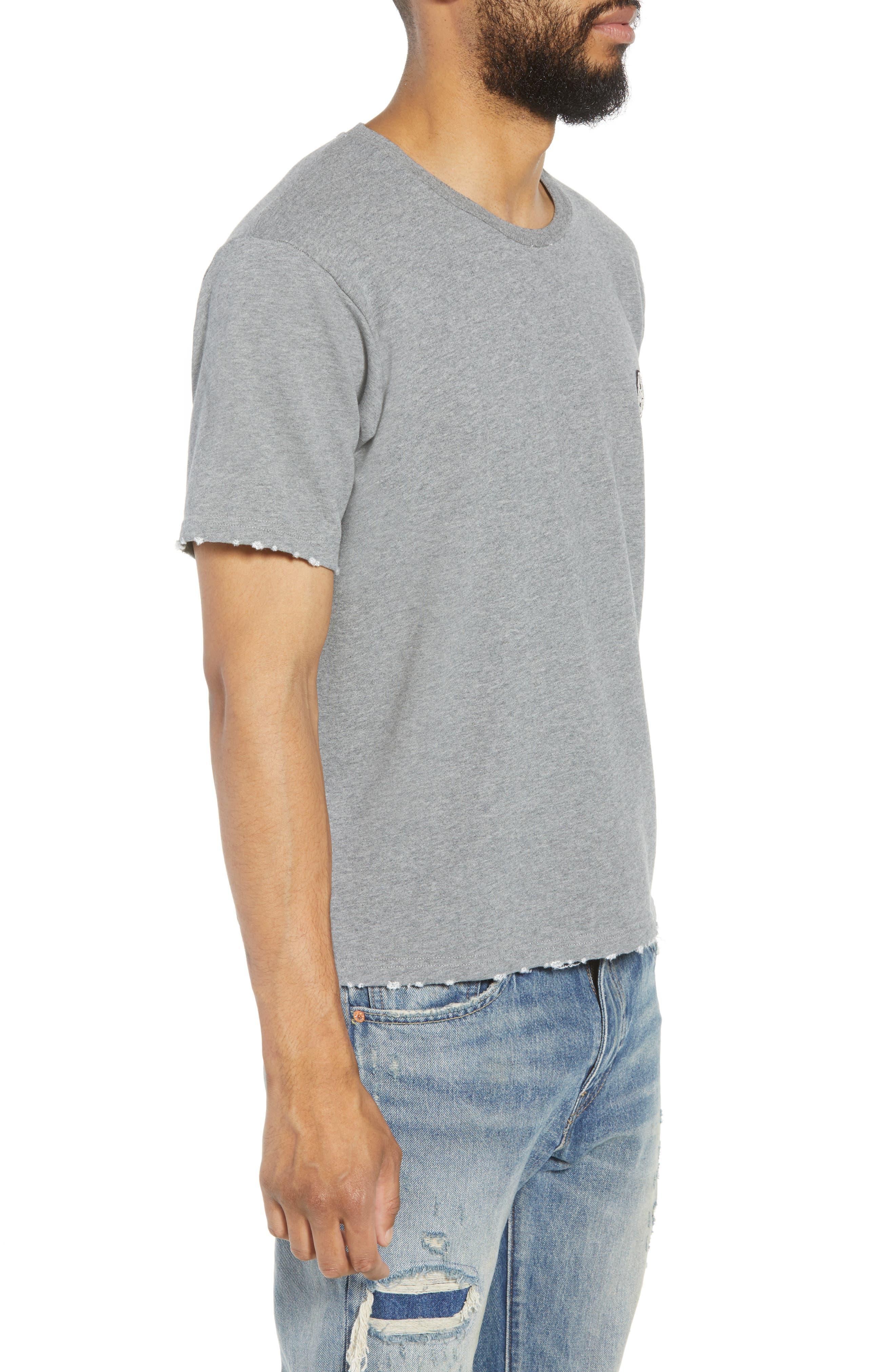 Classic Fit Short Sleeve Sweatshirt,                             Alternate thumbnail 3, color,                             020