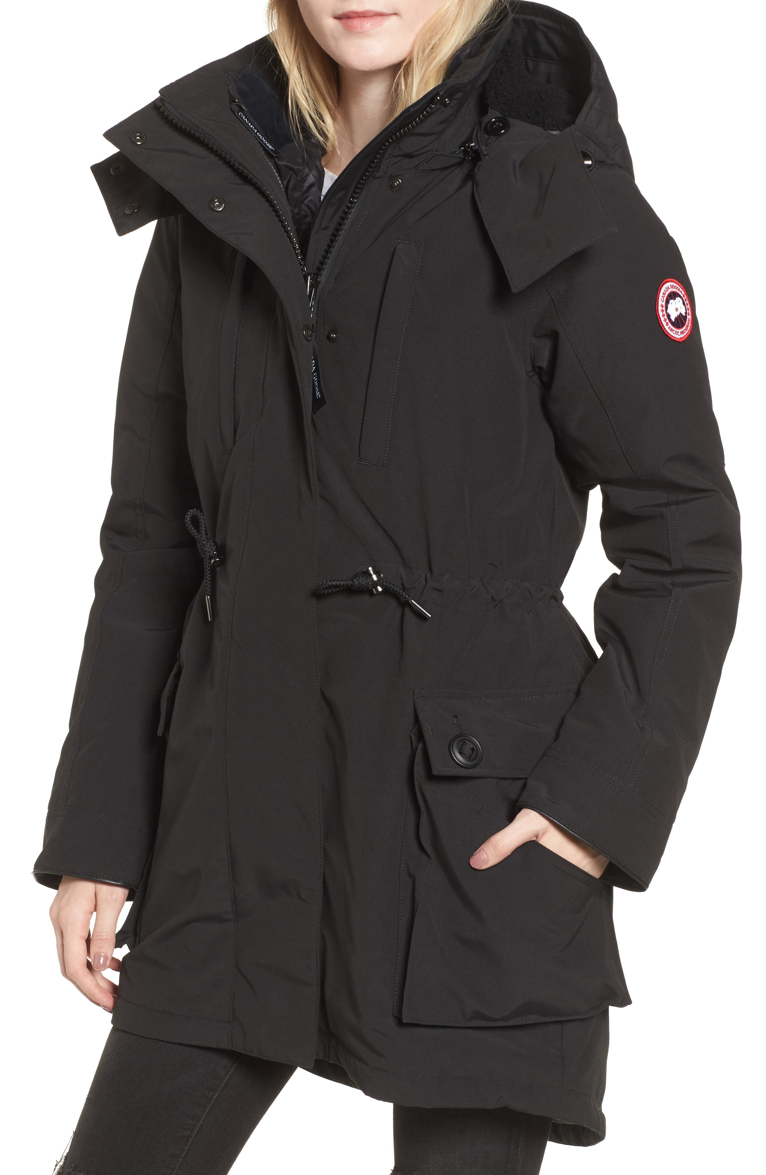 Perley Waterproof 675-Fill-Power Down 3-in-1 Parka,                         Main,                         color, BLACK