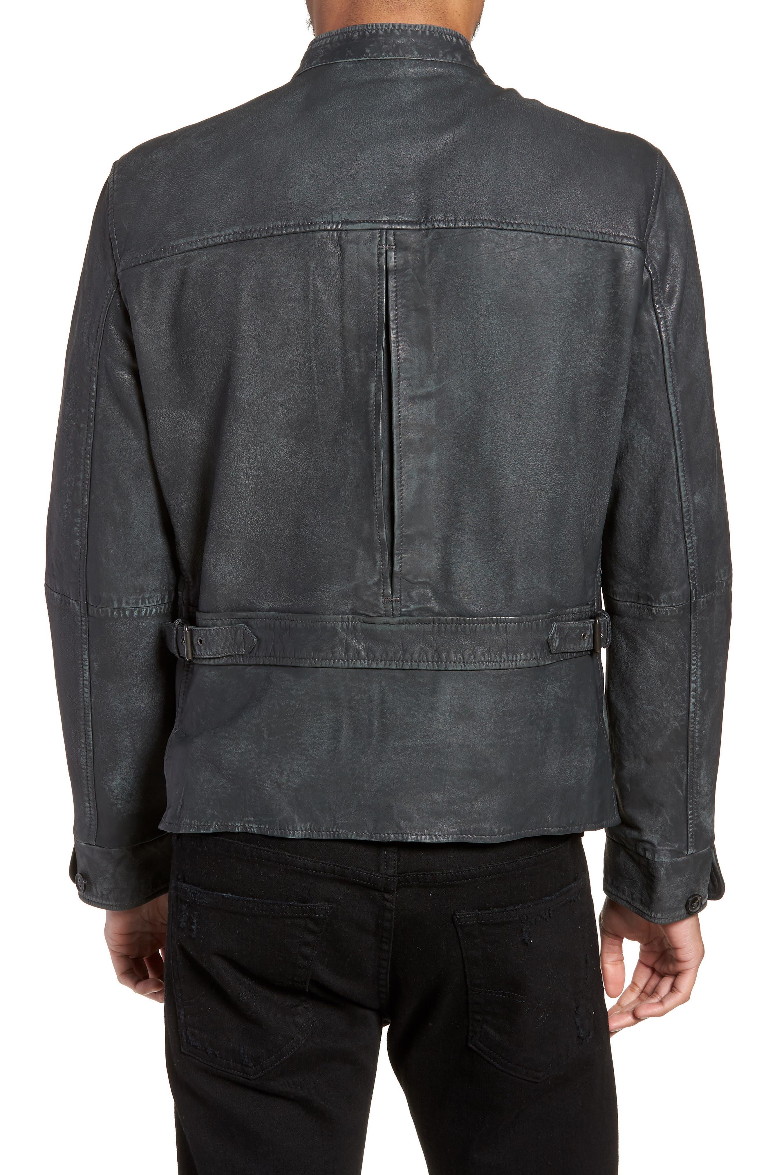 John Varvatos x Nick Jonas Modern Moto Jacket,                             Alternate thumbnail 2, color,                             020