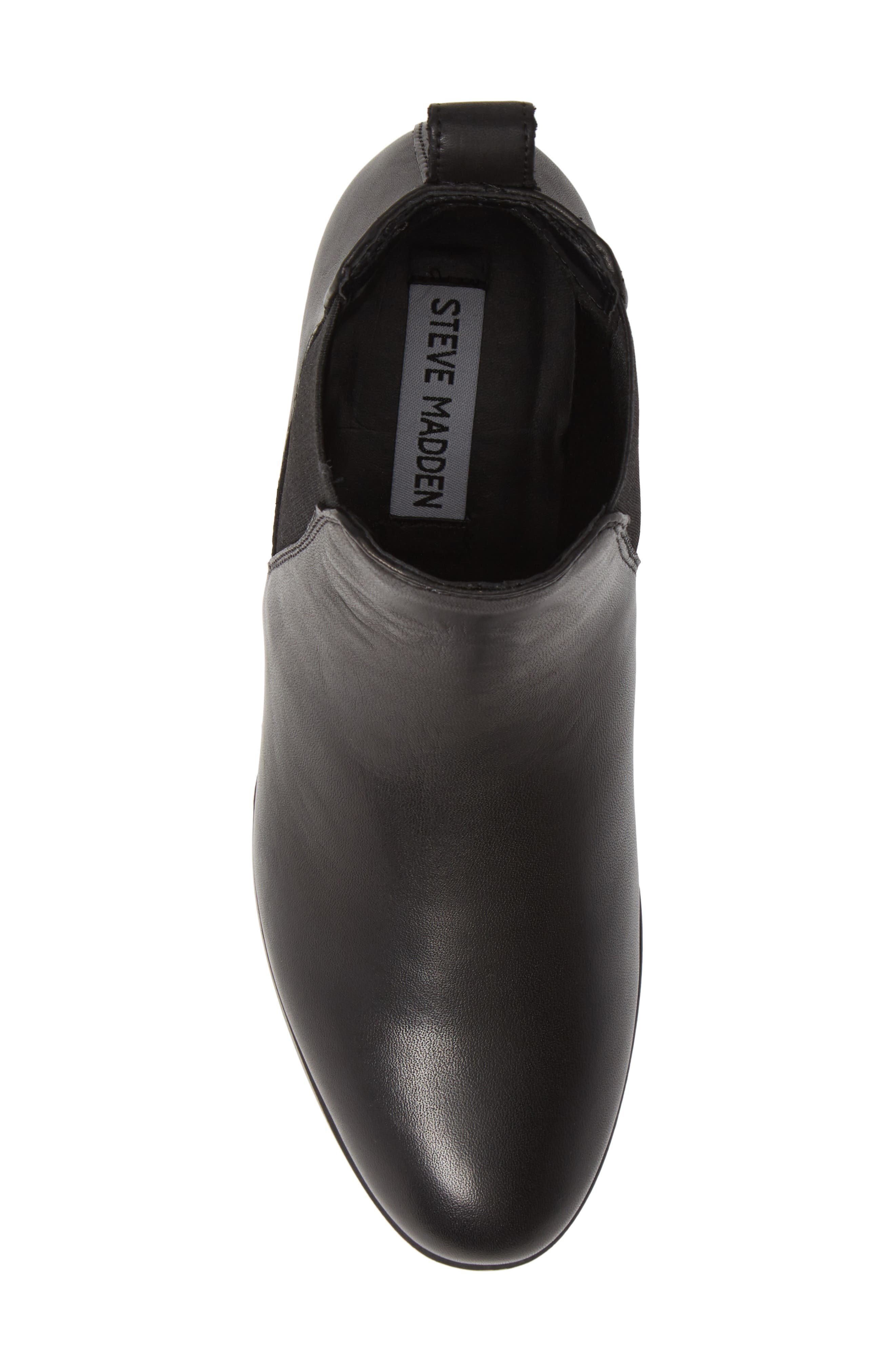 Dover Chelsea Bootie,                             Alternate thumbnail 5, color,                             BLACK LEATHER