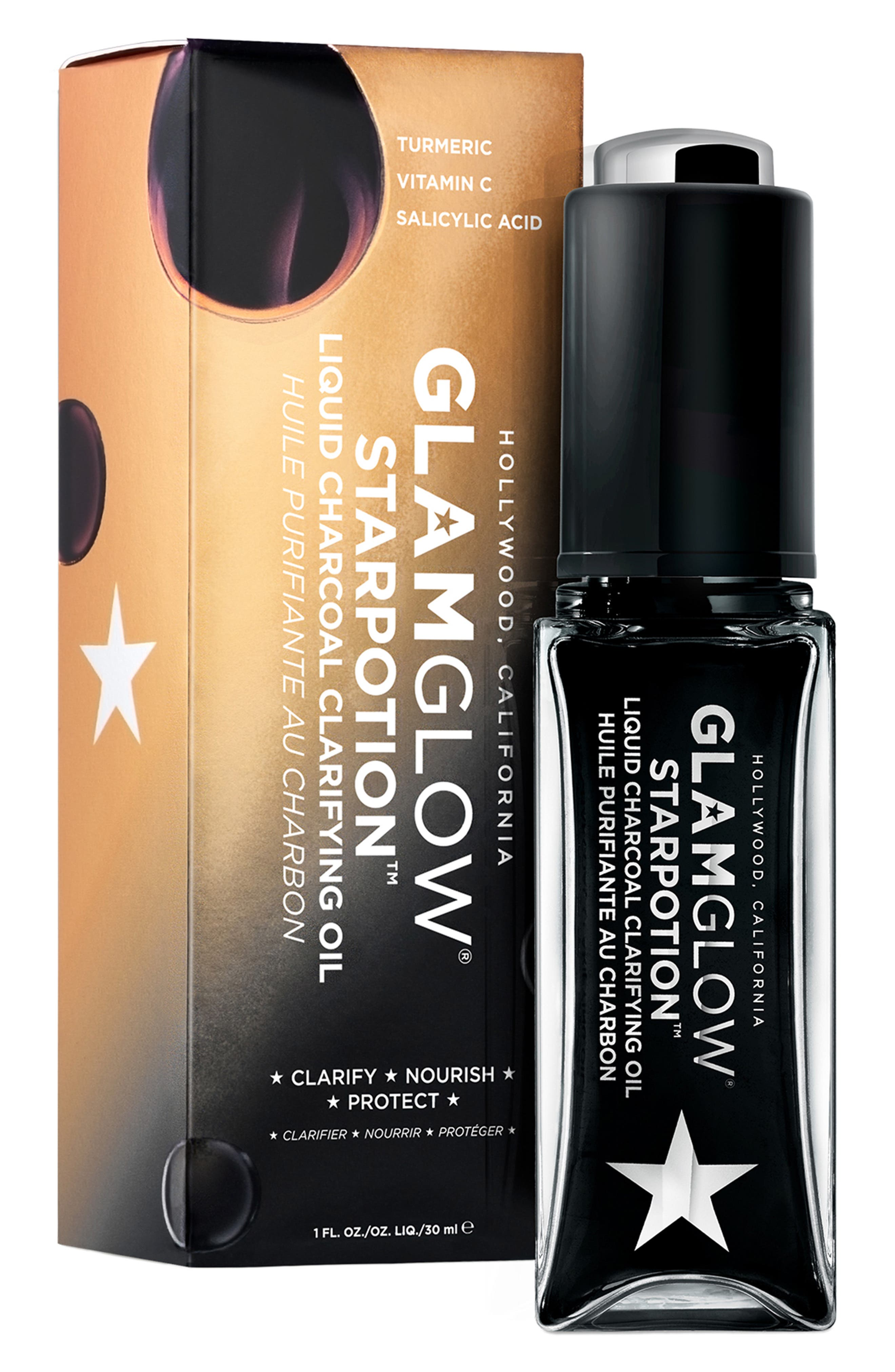 GLAMGLOW<SUP>®</SUP>,                             STARPOTION<sup>™</sup> Liquid Charcoal Clarifying Oil,                             Alternate thumbnail 4, color,                             NO COLOR