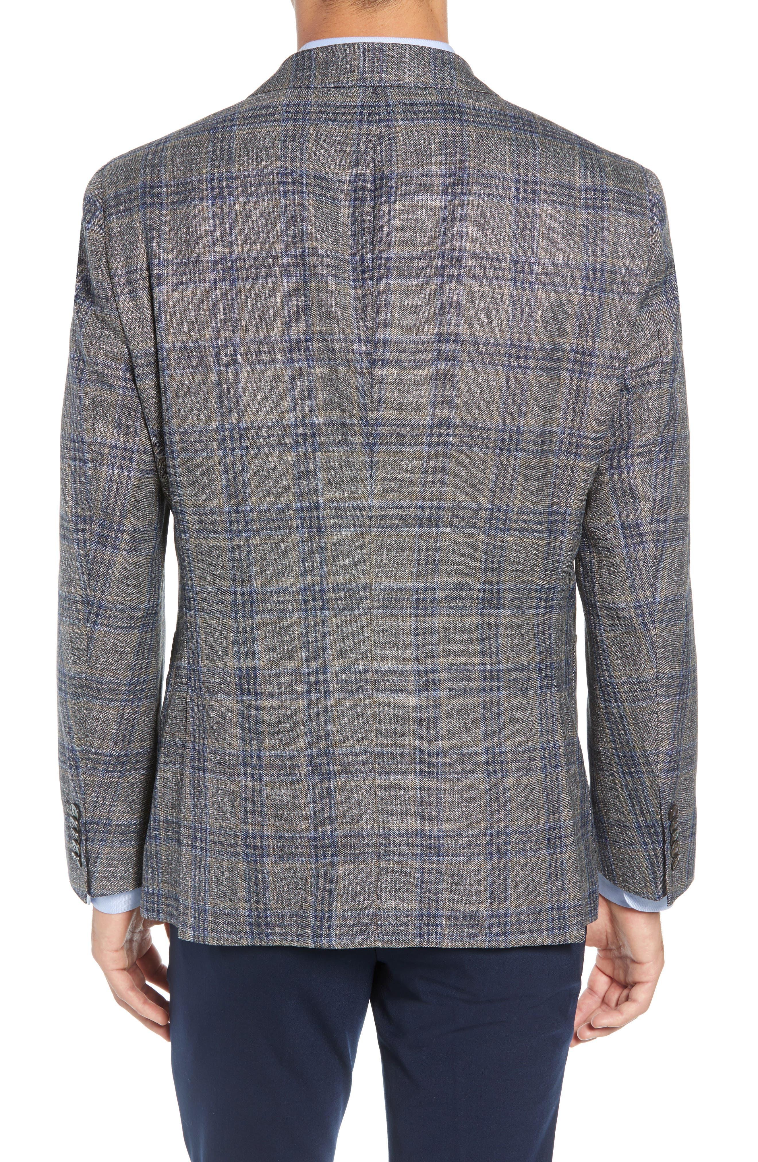 Heston Trim Fit Plaid Wool Blend Sport Coat,                             Alternate thumbnail 2, color,                             TAN