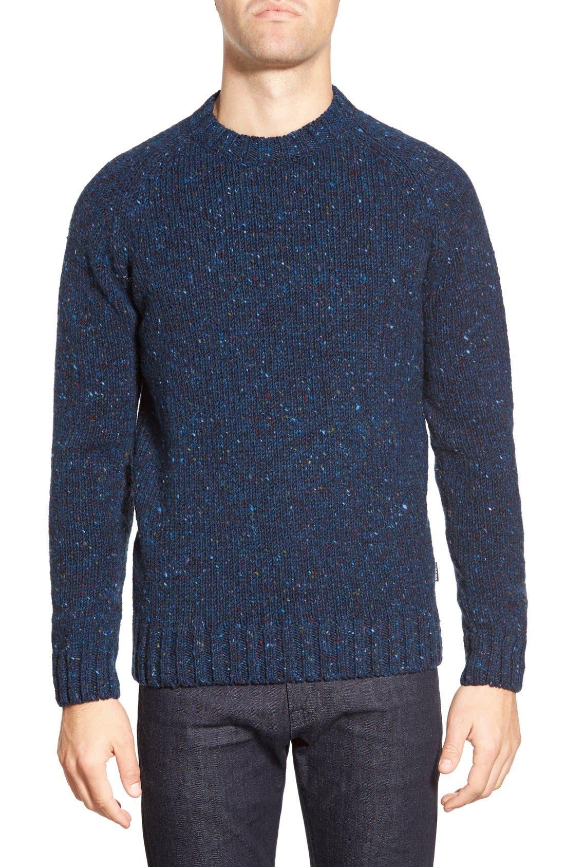 'Netherby' Kilcara Tweed Crewneck Sweater,                             Main thumbnail 1, color,                             400