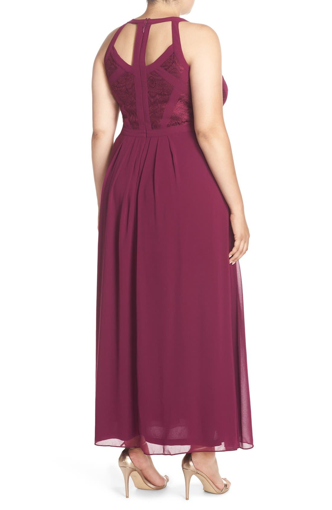 Paneled Lace Bodice Gown,                             Alternate thumbnail 25, color,