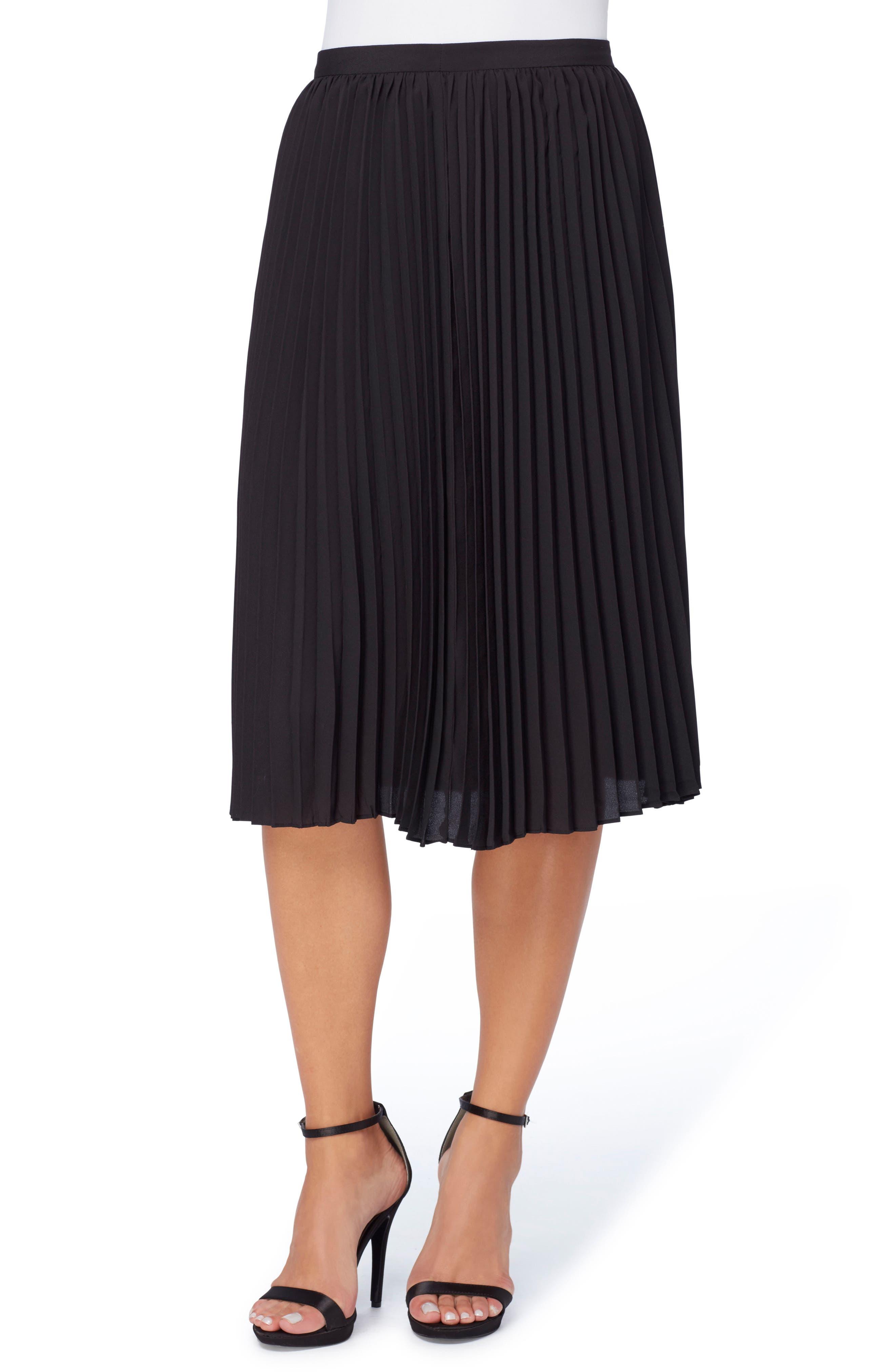 Sylvia Pleated Chiffon Skirt,                             Alternate thumbnail 2, color,