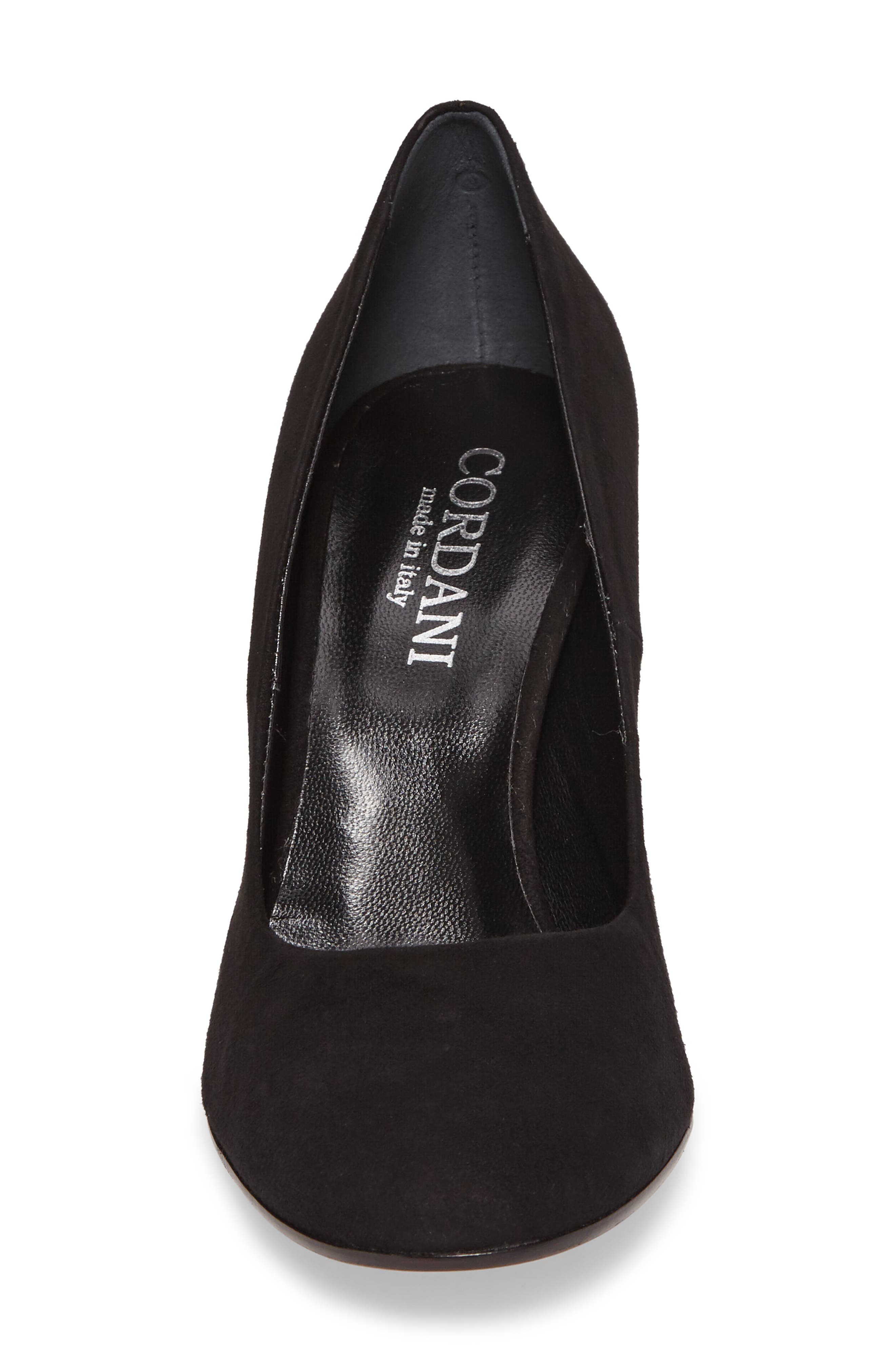 Hanette Pump,                             Alternate thumbnail 4, color,                             BLACK SUEDE