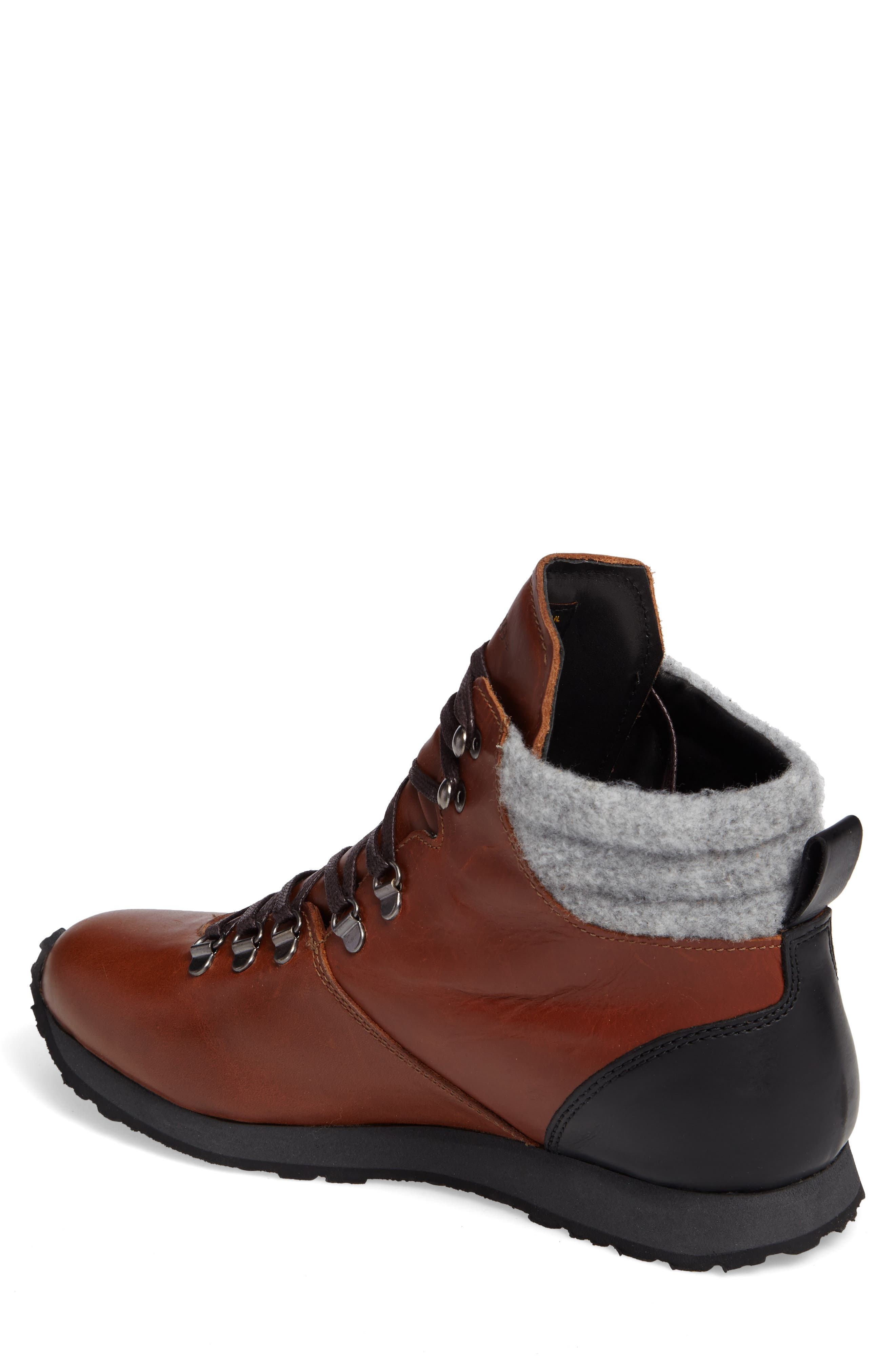 Concord Mid Top Wool Cuffed Waterproof Boot,                             Alternate thumbnail 4, color,