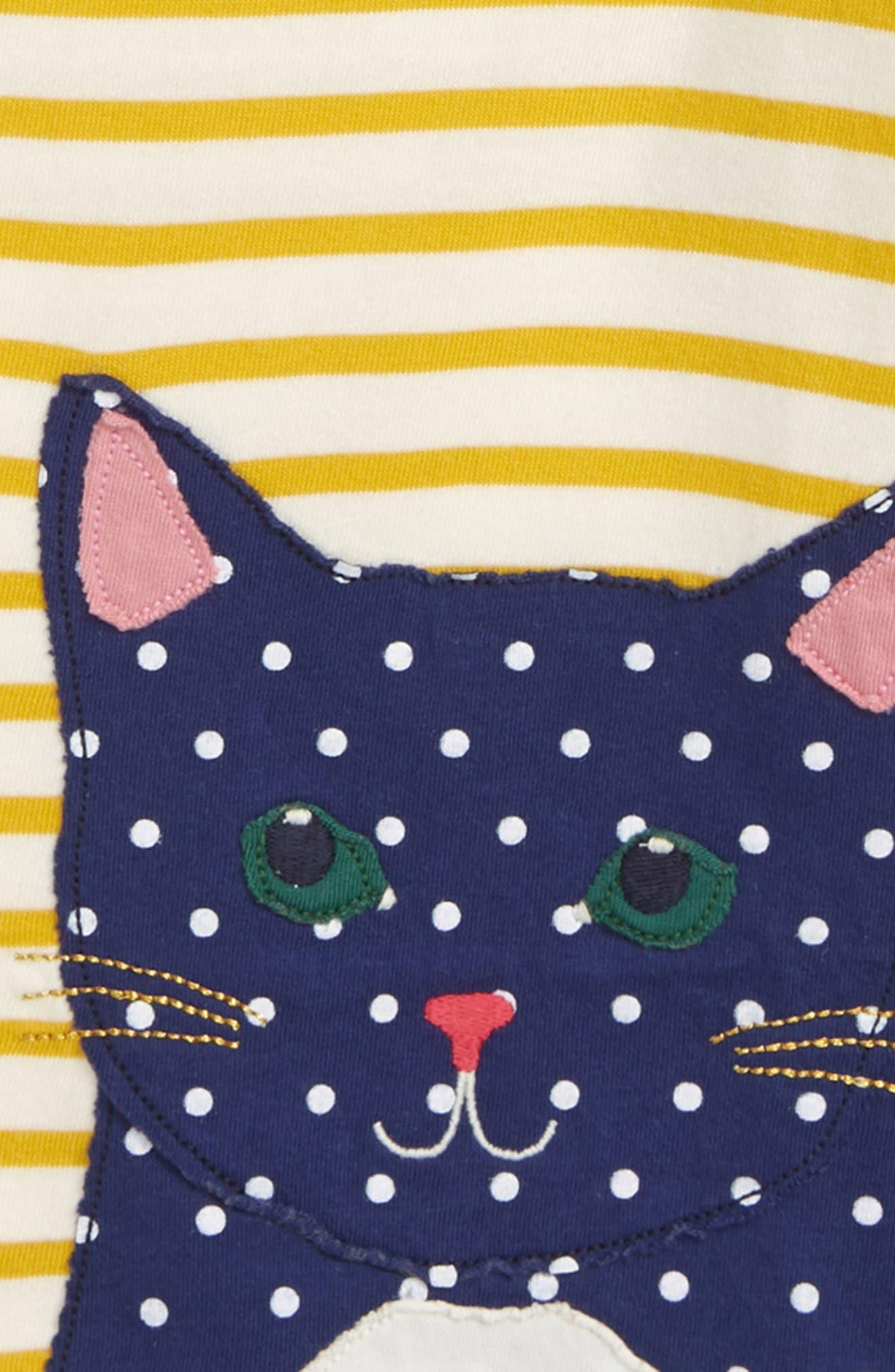 Appliqué Breton Shirt,                             Alternate thumbnail 2, color,                             HONEYCOMB/ ECRU CAT