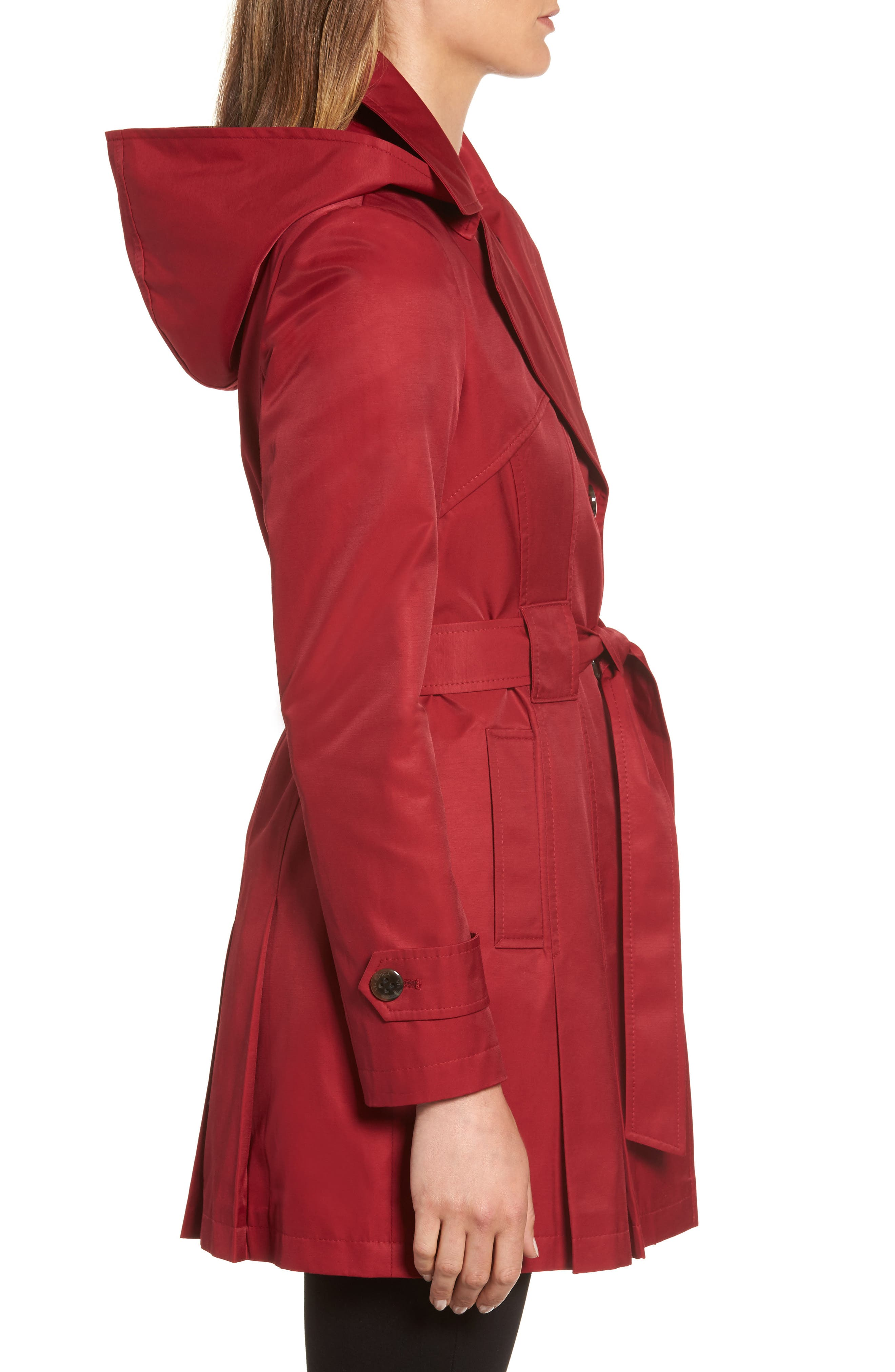 'Scarpa' Hooded Single Breasted Trench Coat,                             Alternate thumbnail 18, color,