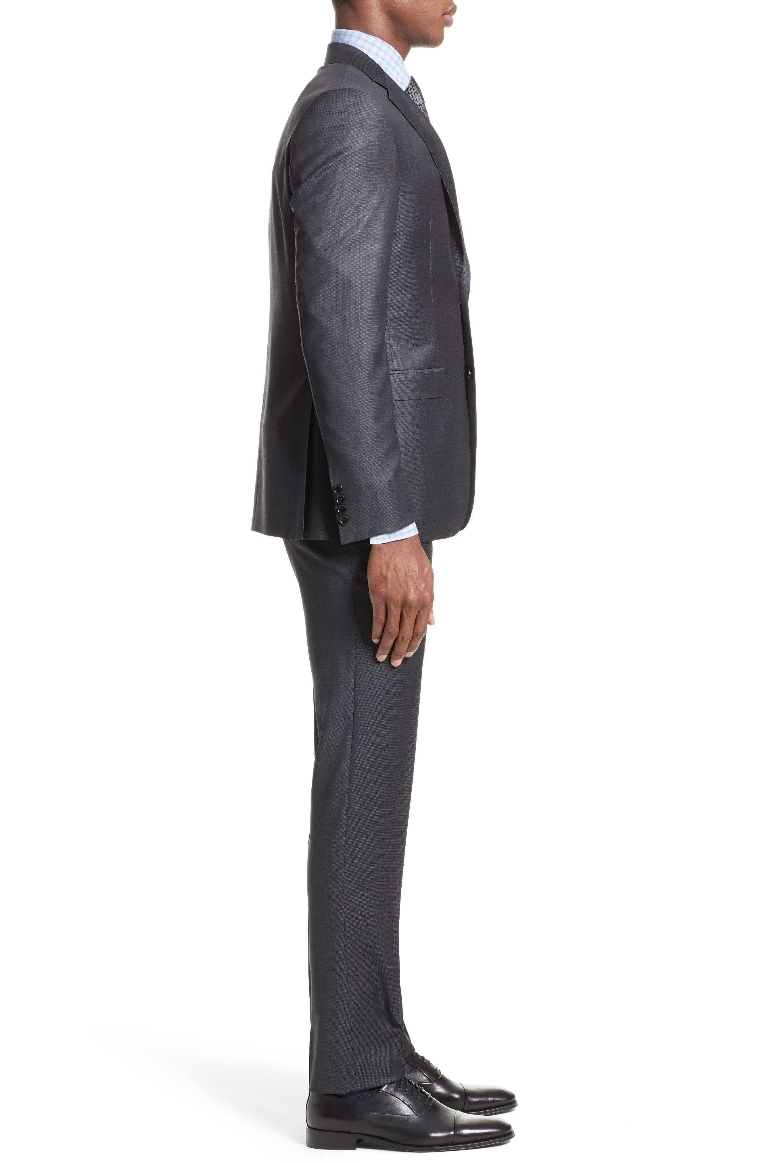 Classic Fit Solid Wool Suit,                             Alternate thumbnail 3, color,                             020