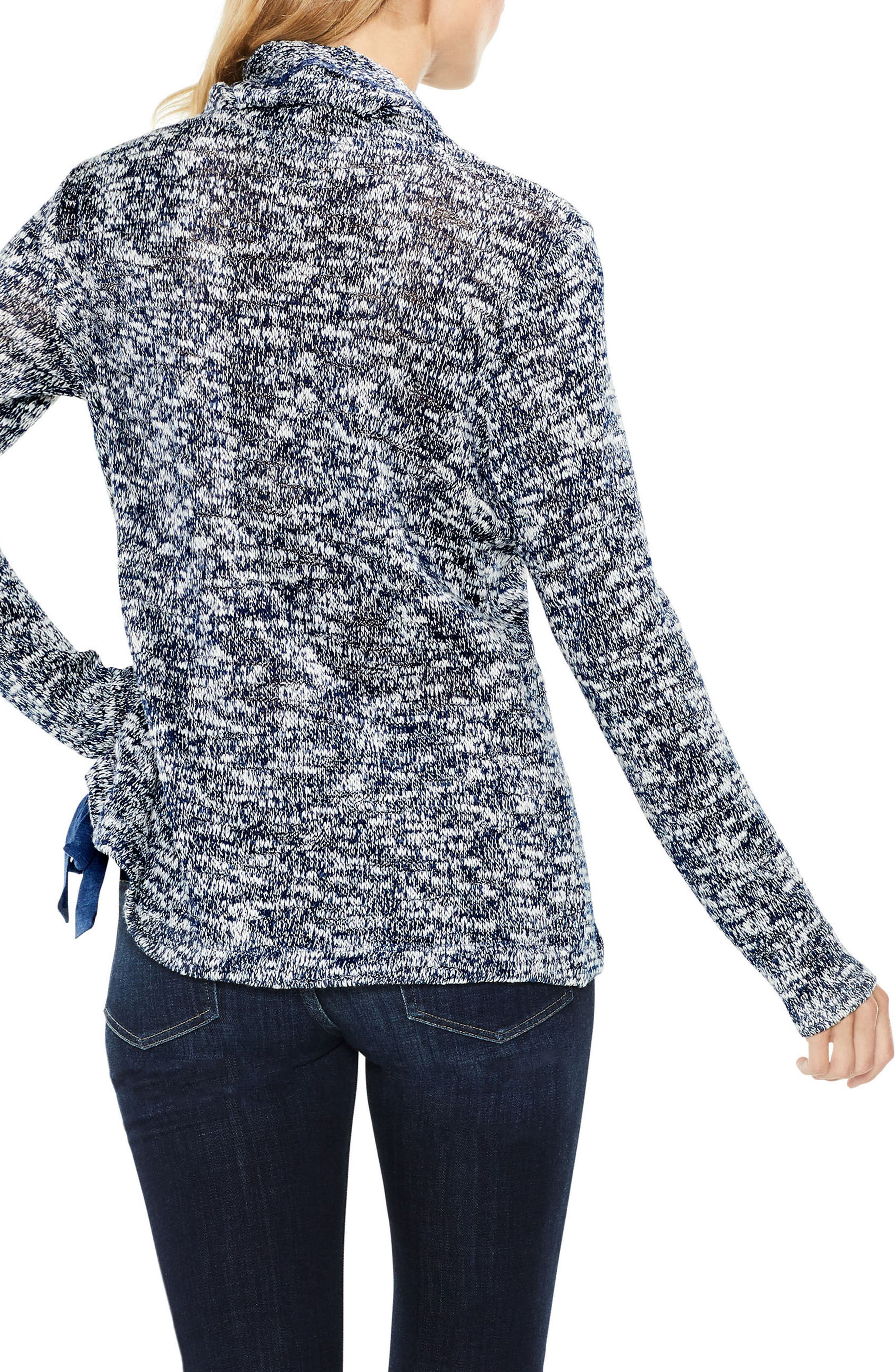 Two by Vince Camuto Funnel Neck Pullover,                             Alternate thumbnail 2, color,                             INDIGO HEATHER