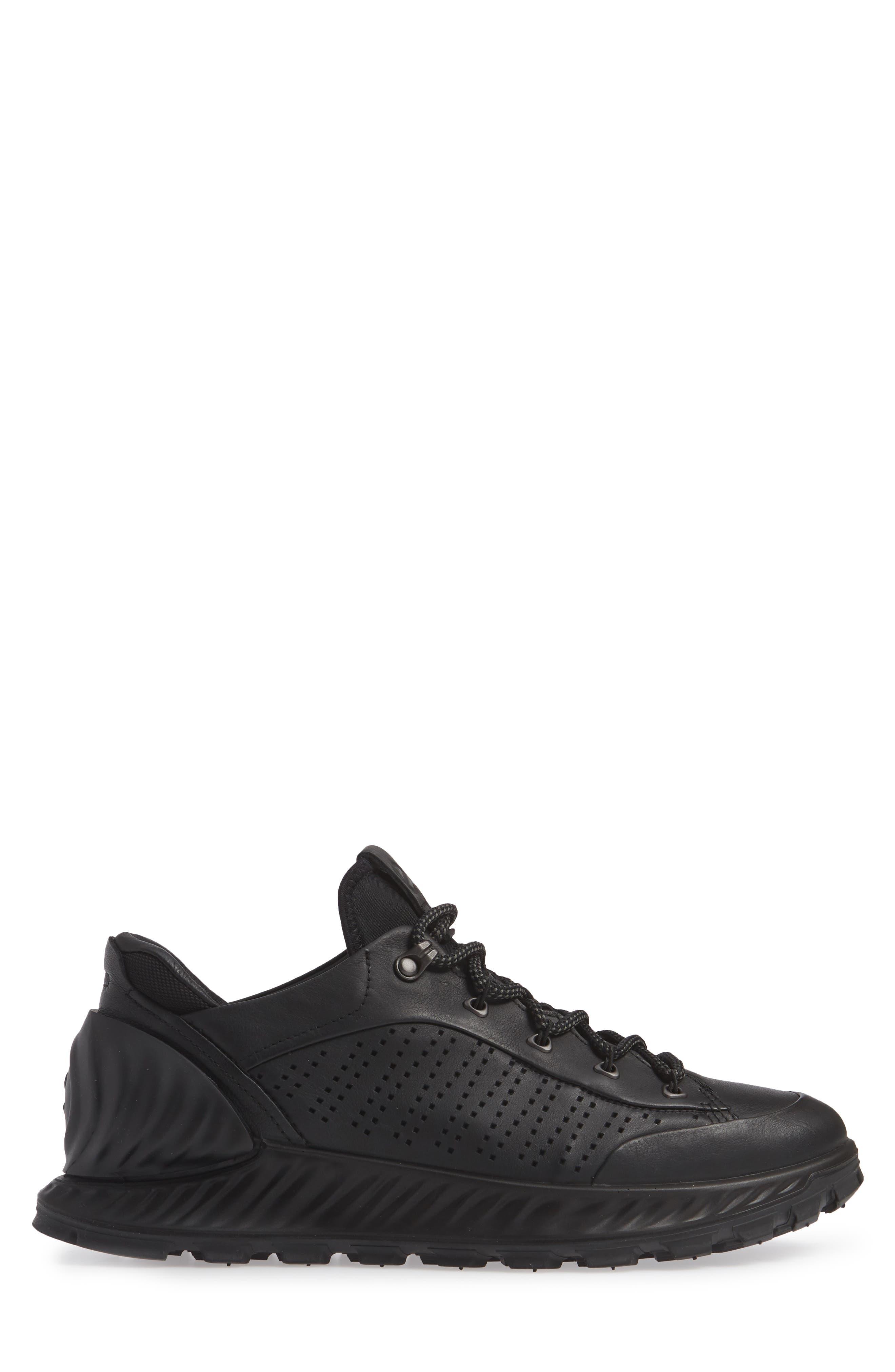 Exostrike High Top Sneaker,                             Alternate thumbnail 3, color,                             BLACK LEATHER