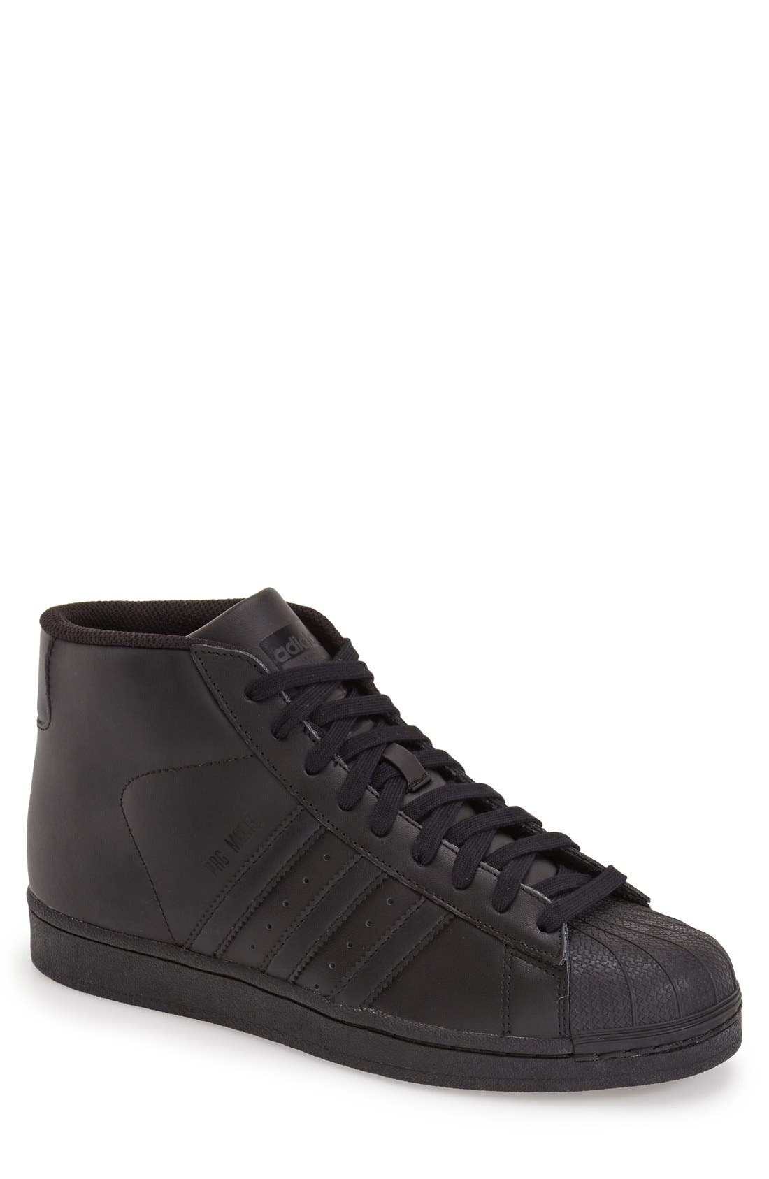 'Pro Model' High Top Sneaker, Main, color, 001