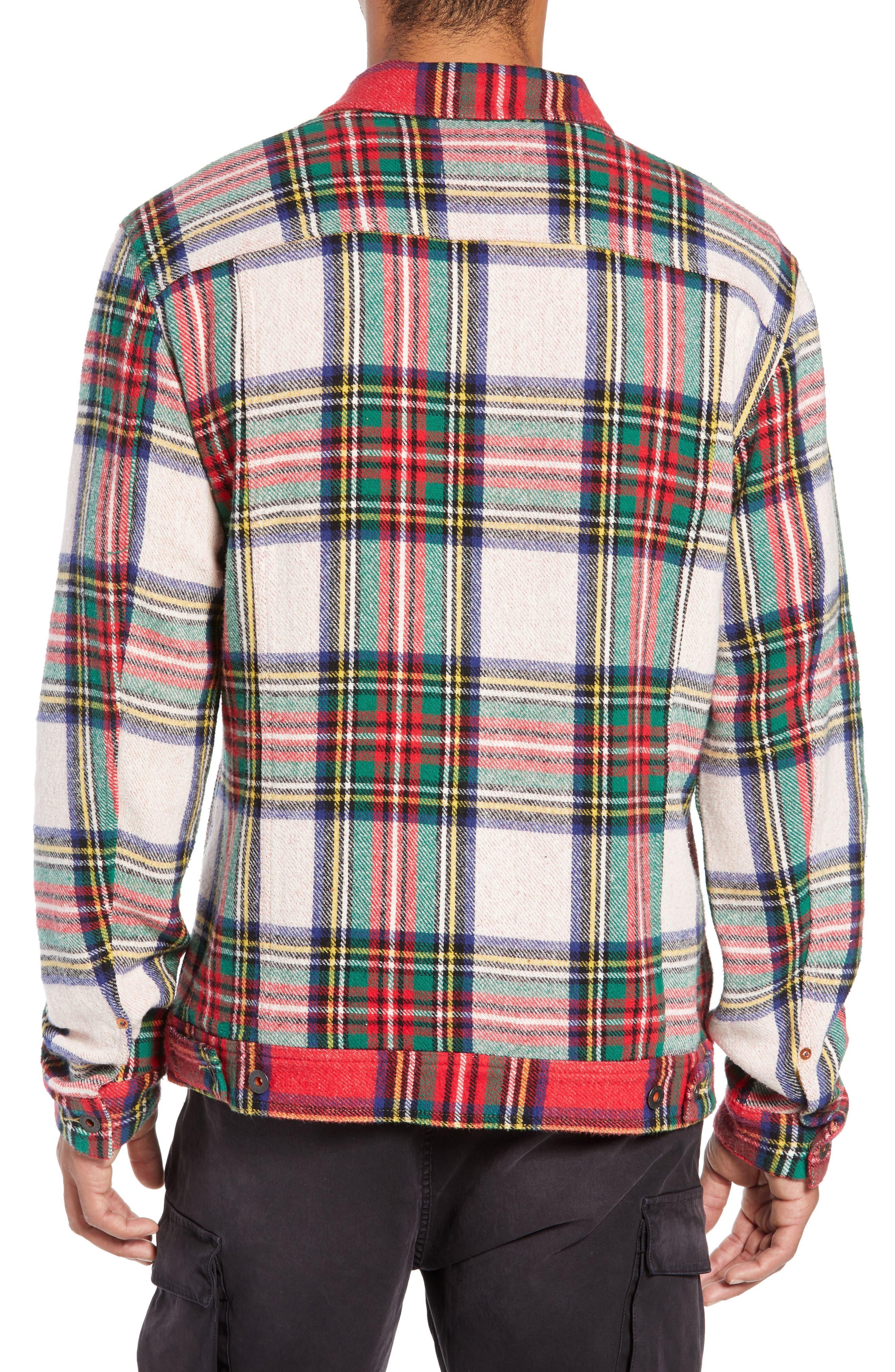 Tartan Plaid Trucker Jacket,                             Alternate thumbnail 2, color,                             COMBO A
