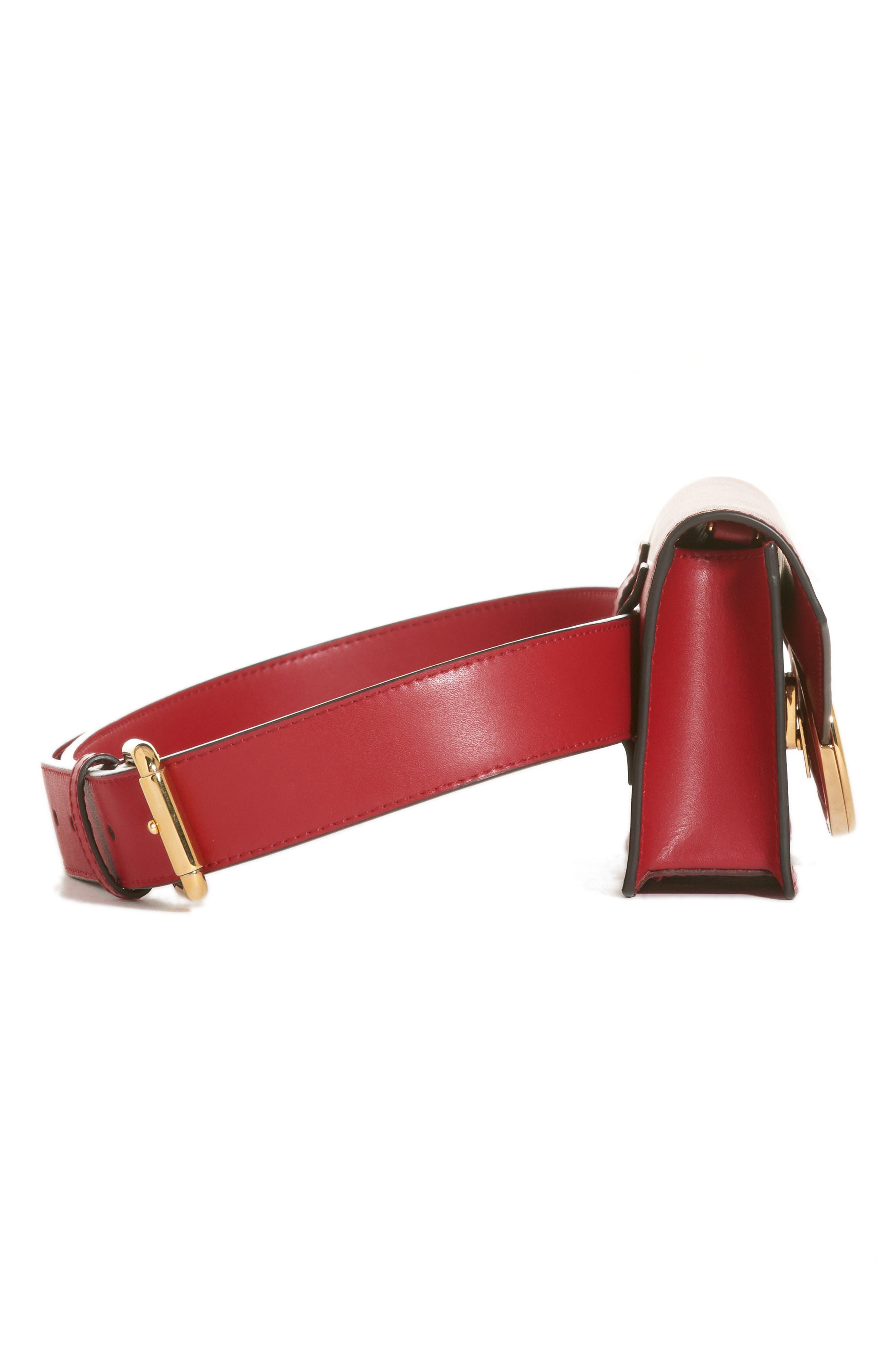 Liberty Logo Calfskin Leather Belt Bag,                             Alternate thumbnail 5, color,                             600