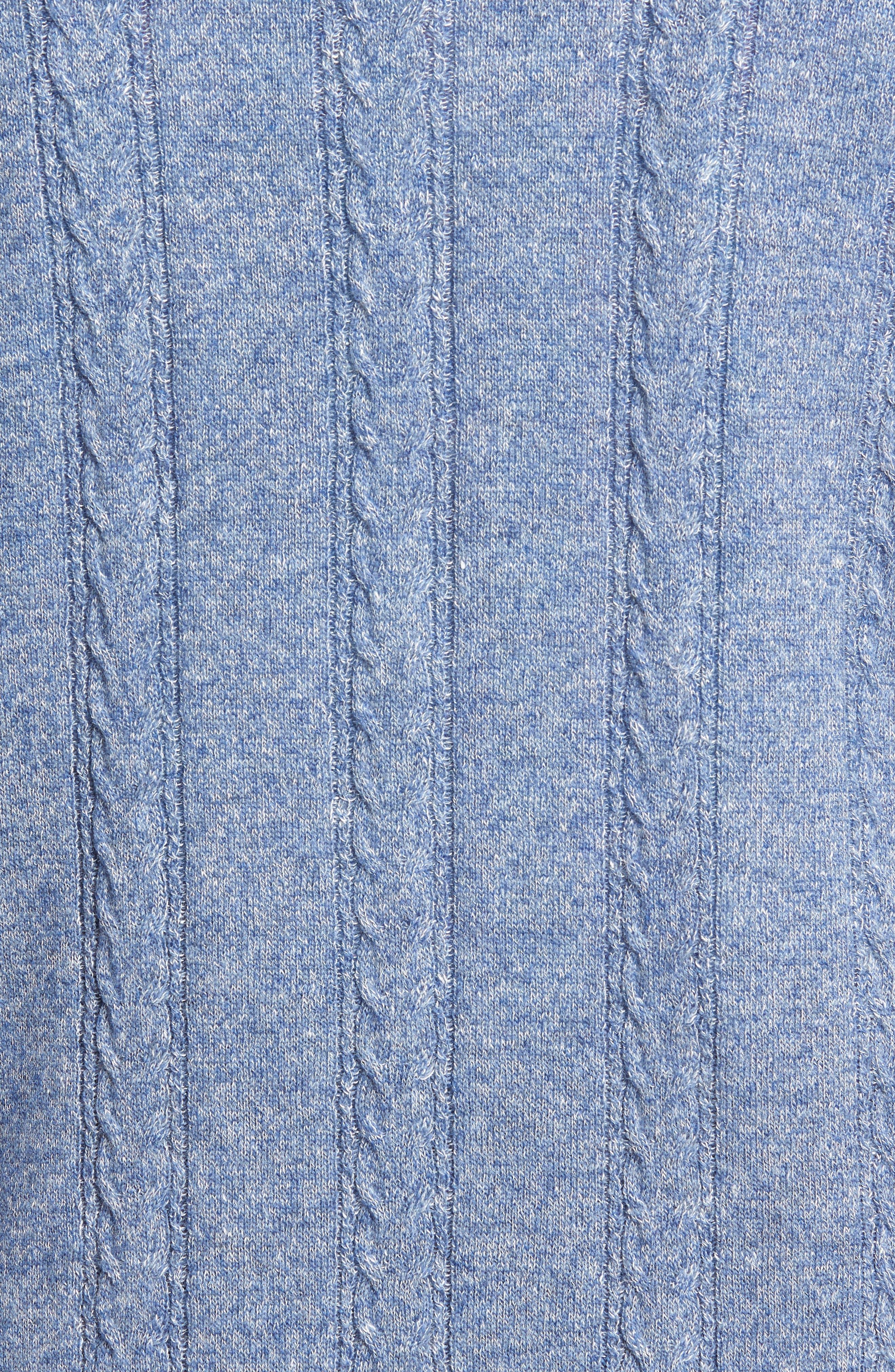 Crown Fleece Cashmere & Linen Quarter Zip Sweater,                             Alternate thumbnail 5, color,                             418
