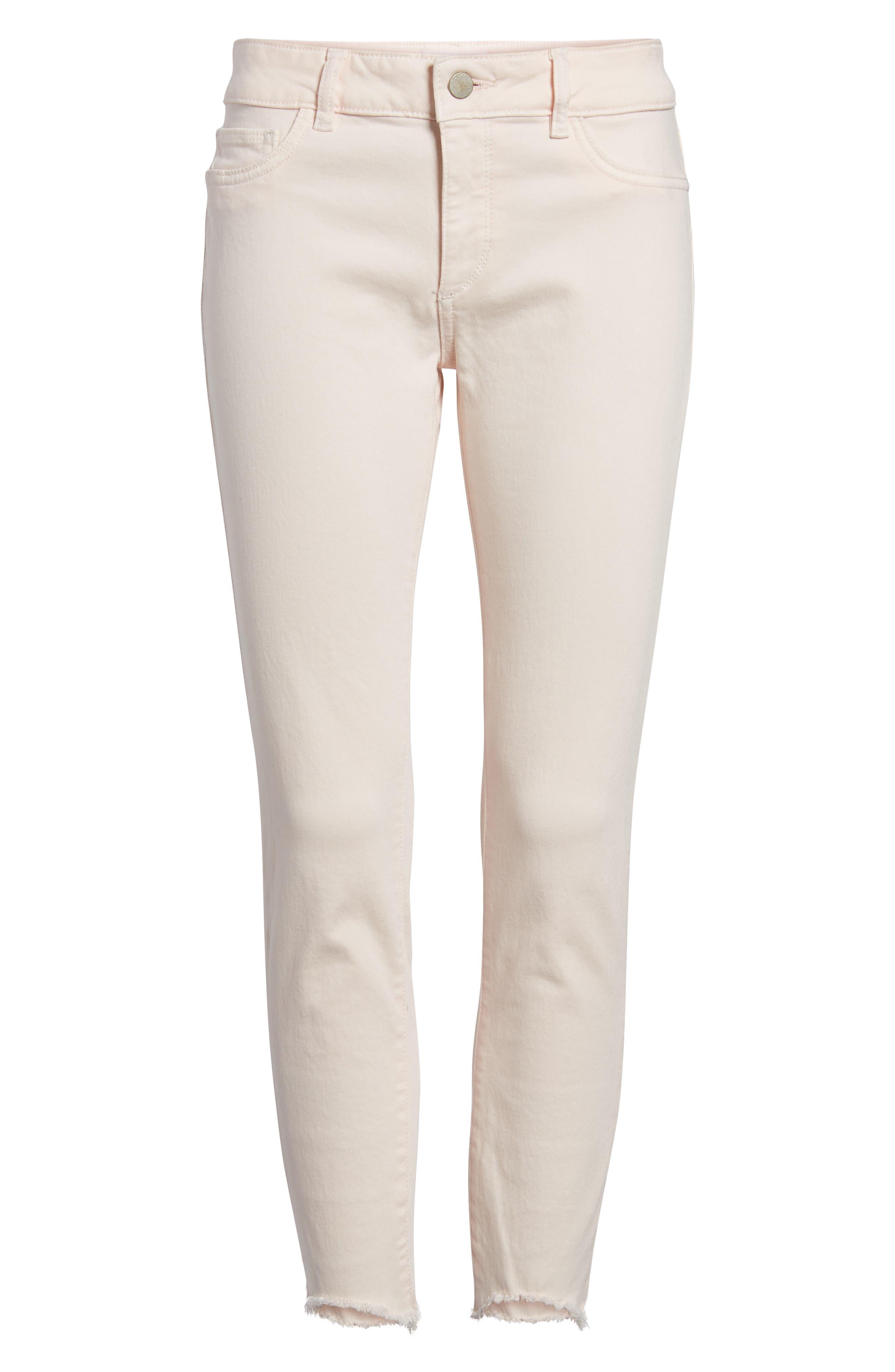 DL1961,                             Florence Instasculpt Crop Skinny Jeans,                             Alternate thumbnail 6, color,                             651