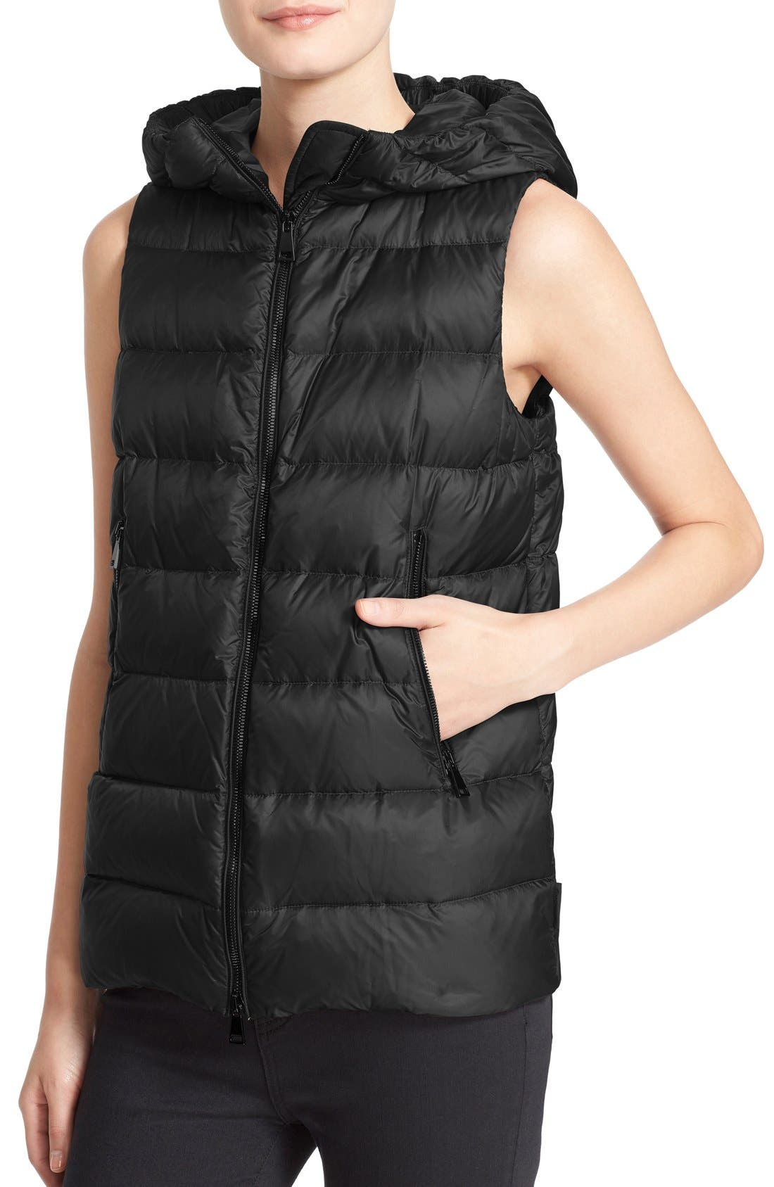 MONCLER,                             'Euphemia' Wool Blend Jacket with Removable Hooded Puffer Vest,                             Alternate thumbnail 2, color,                             001