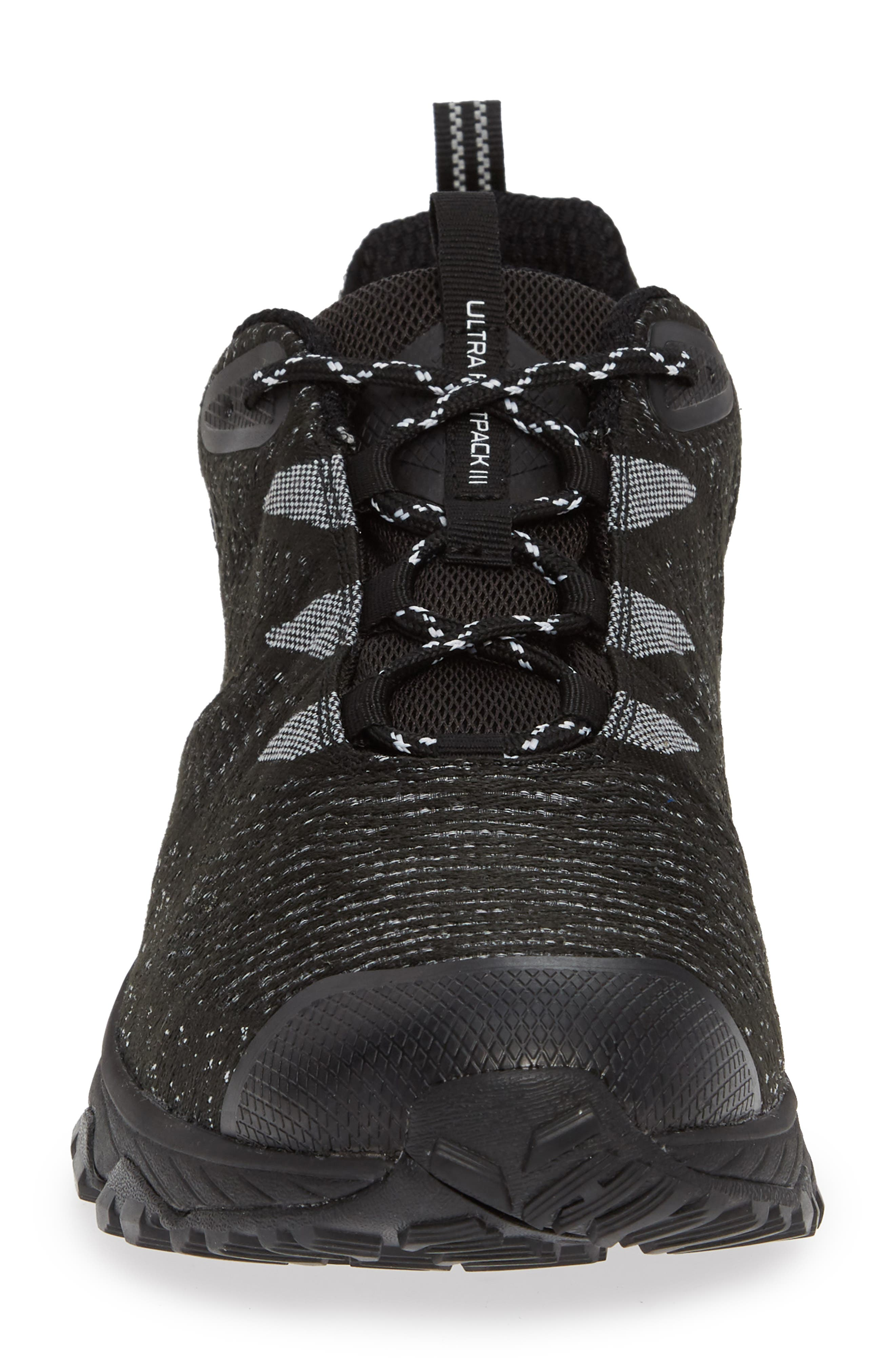 Ultra Fastpack III Mid Top Gore-Tex<sup>®</sup> Hiking Boot,                             Alternate thumbnail 4, color,                             BLACK/ WHITE