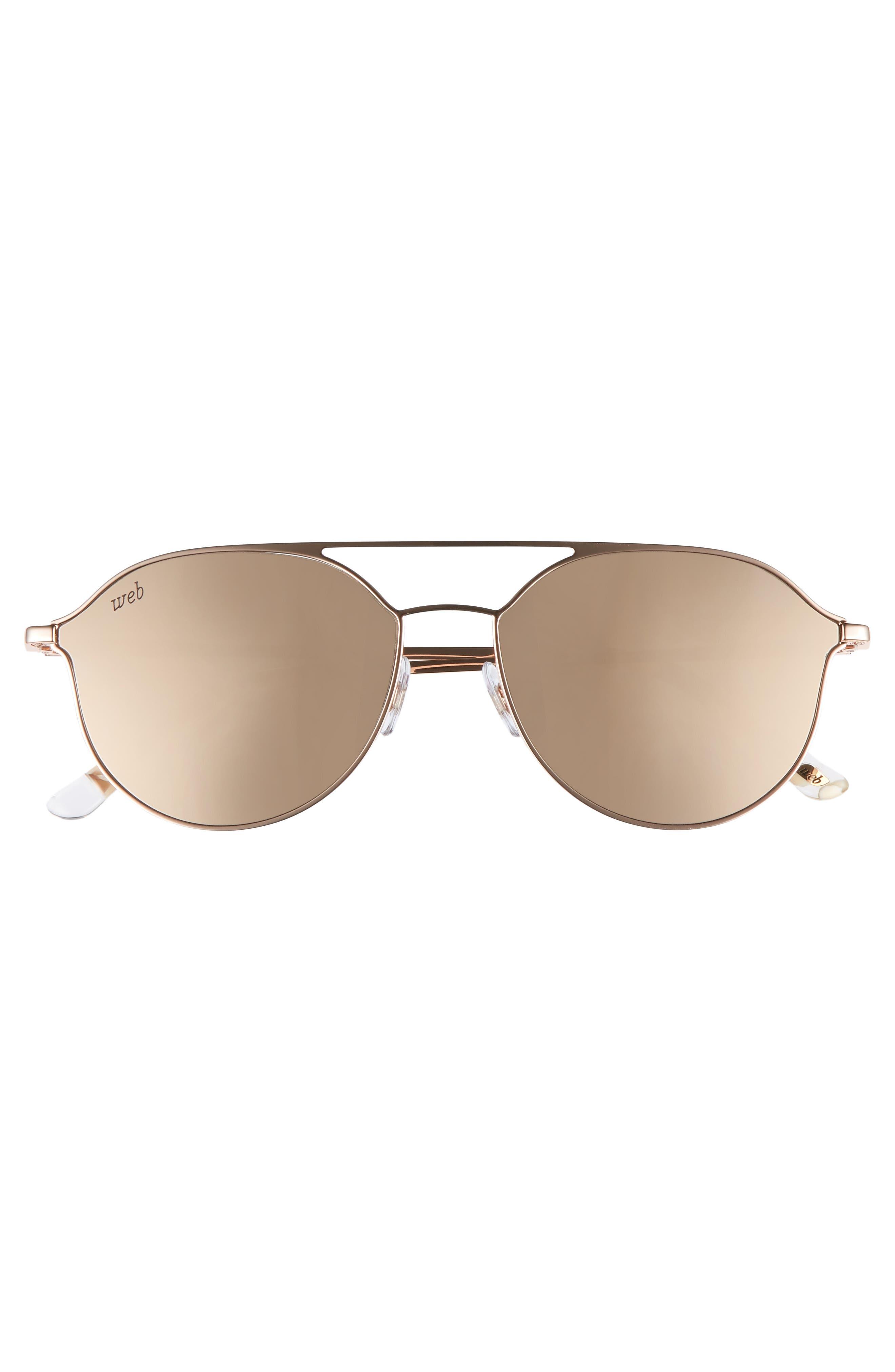 59mm Metal Aviator Sunglasses,                             Alternate thumbnail 3, color,                             LIGHT BRONZE/ BROWN