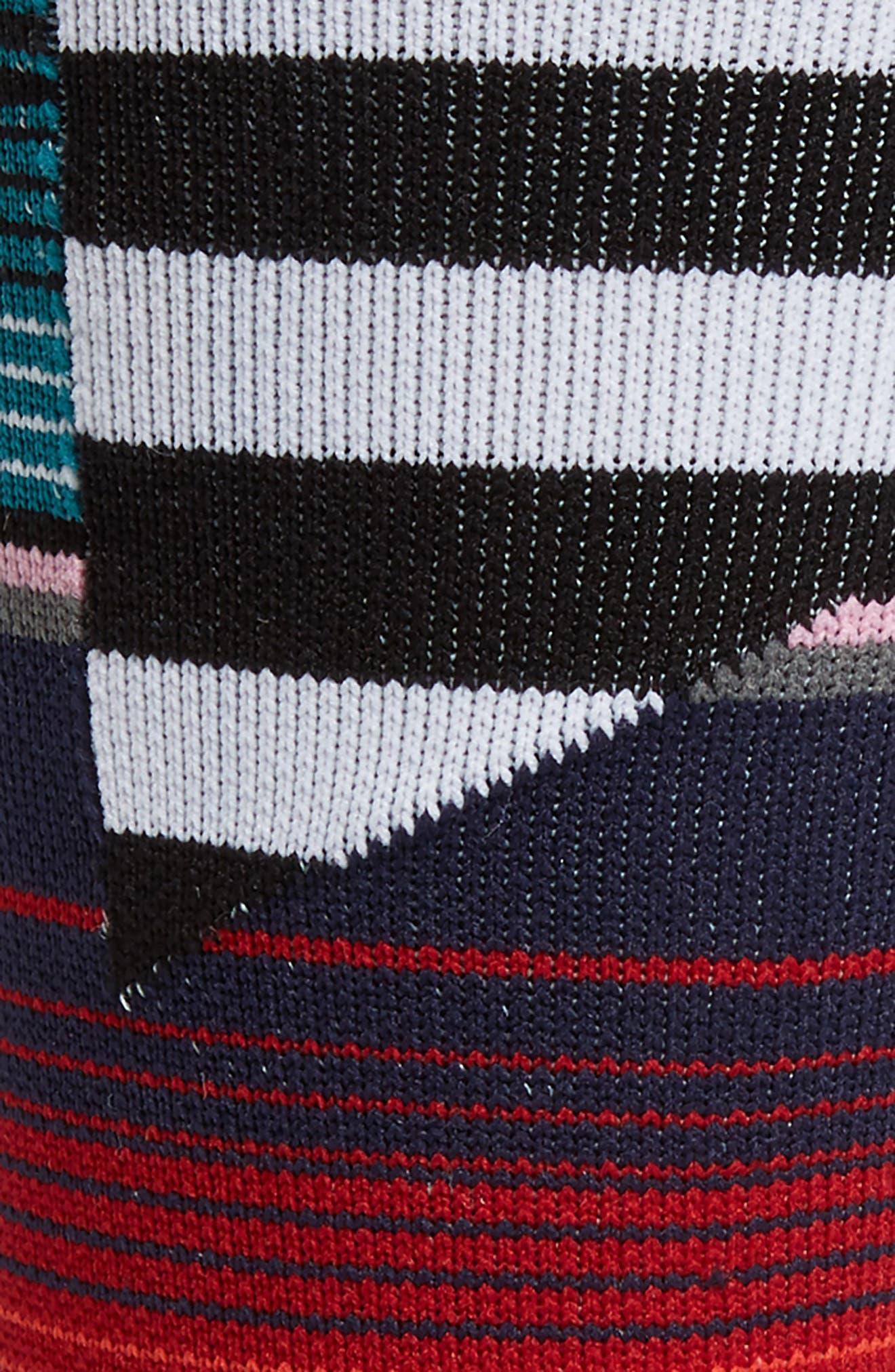 Barder Crew Socks,                             Alternate thumbnail 2, color,                             RED MULTI